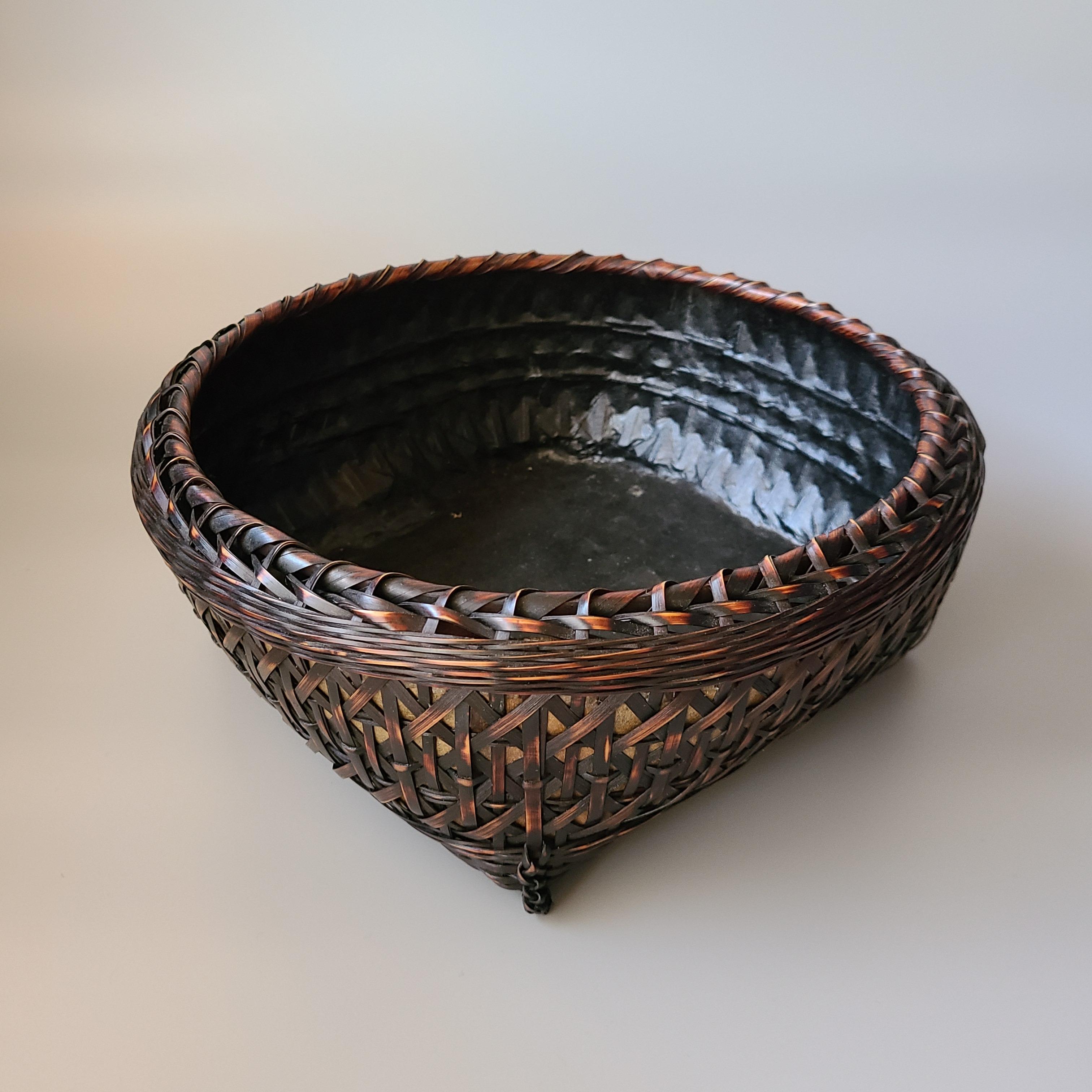 茶道具 矢竹 炭斗 炉用 ダンボール箱