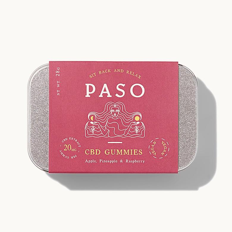 <PASO>CBD GUMMY / CBD 280mg / MIXED (APPLE/RASPBERRY/PINEAPPLE)