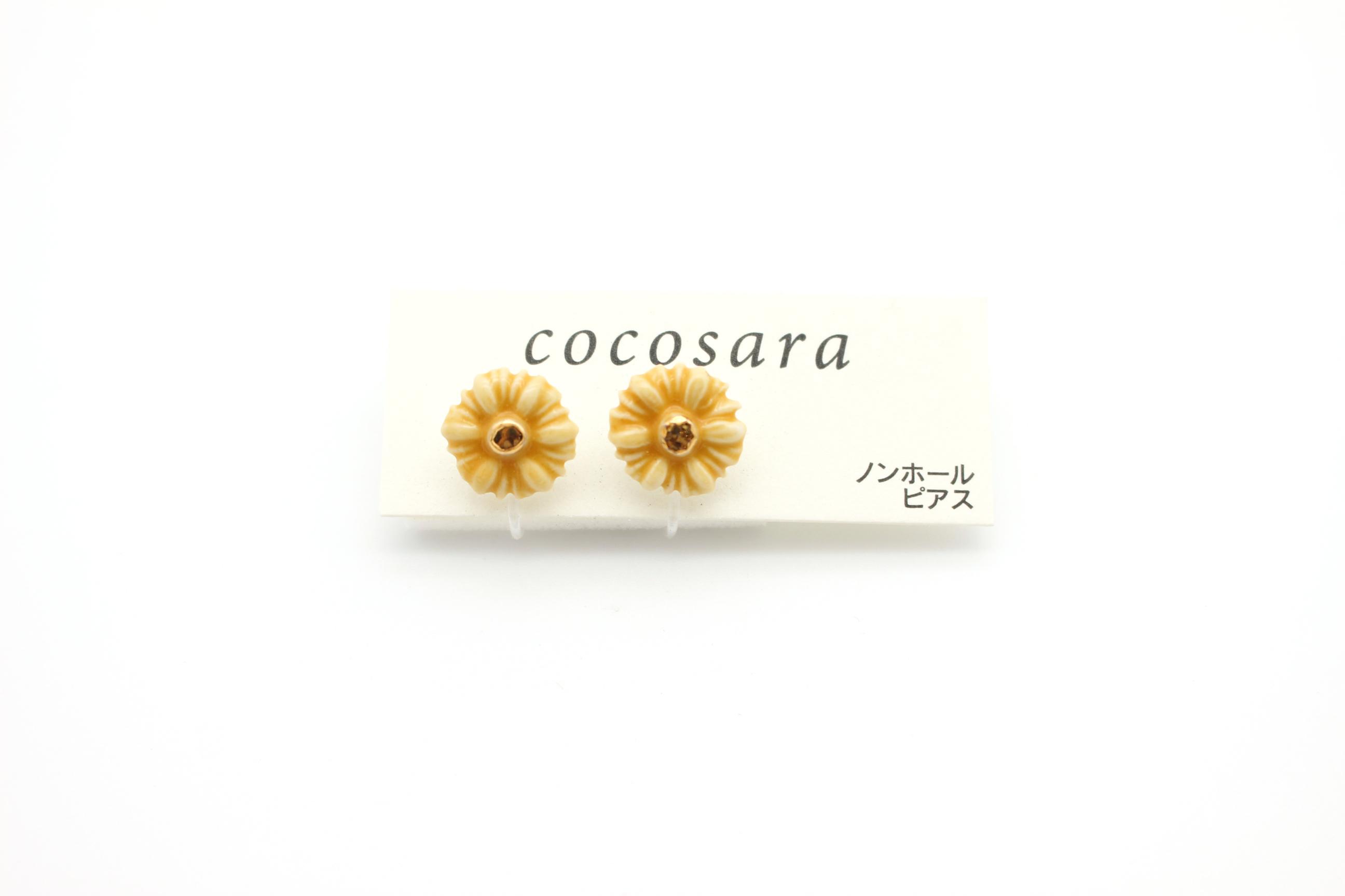 有田焼ノンホールピアス 花11