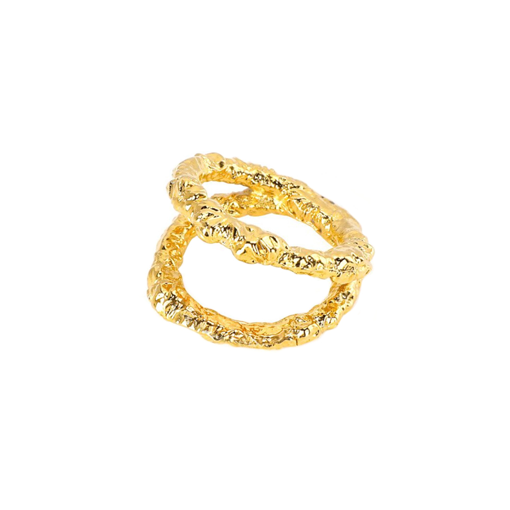 texture 2line ring