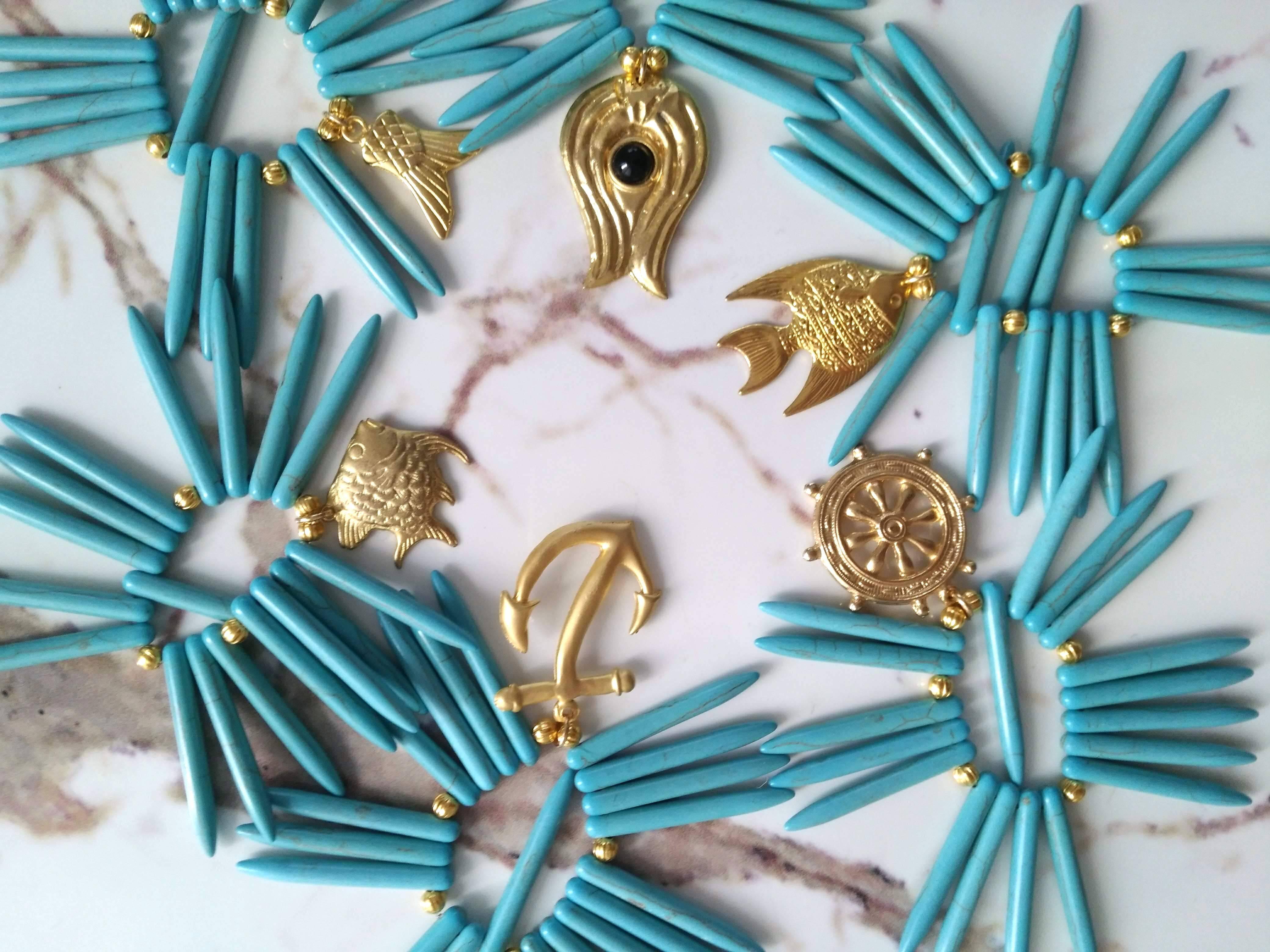 Turquoise Sea Paradise Napkinring 6pieces  トルコ石シーパラダイスナプキンリング6点セット