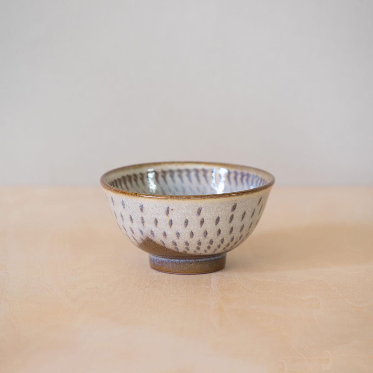 灰釉飛鉋 茶碗(小)