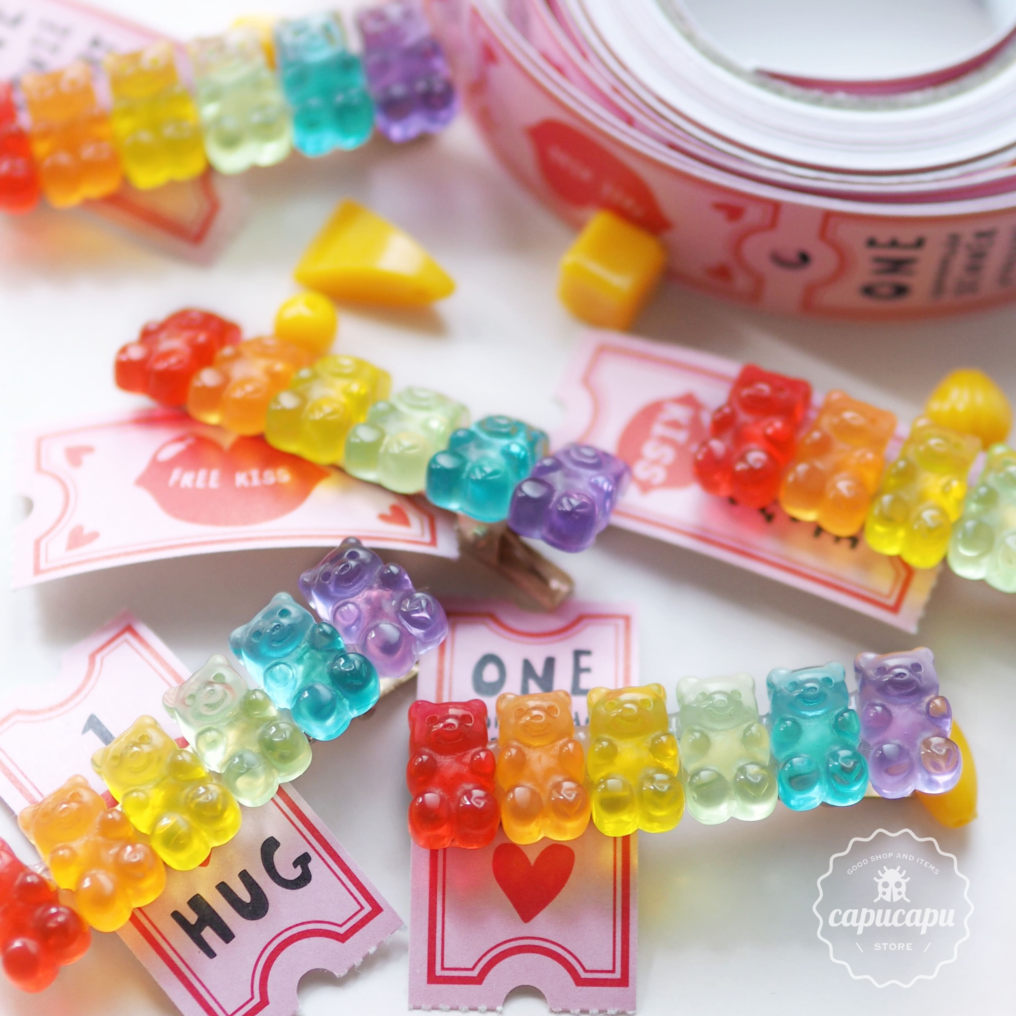«即納» gummy bear hair clips ベアーグミ ヘアクリップ