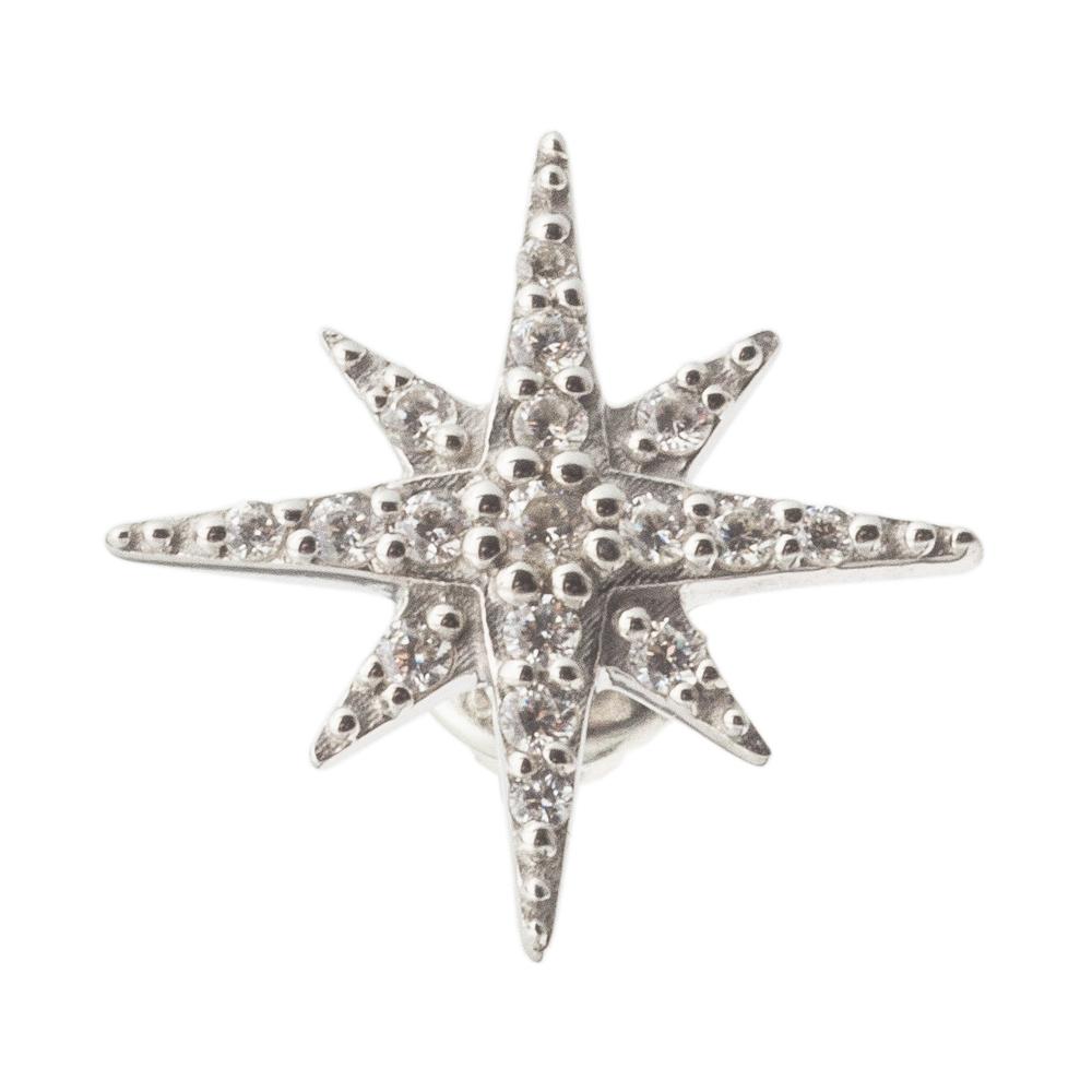 ノーススタースタッドピアス 片耳分 AKE0091 North Star Stud Earrings for One Ear