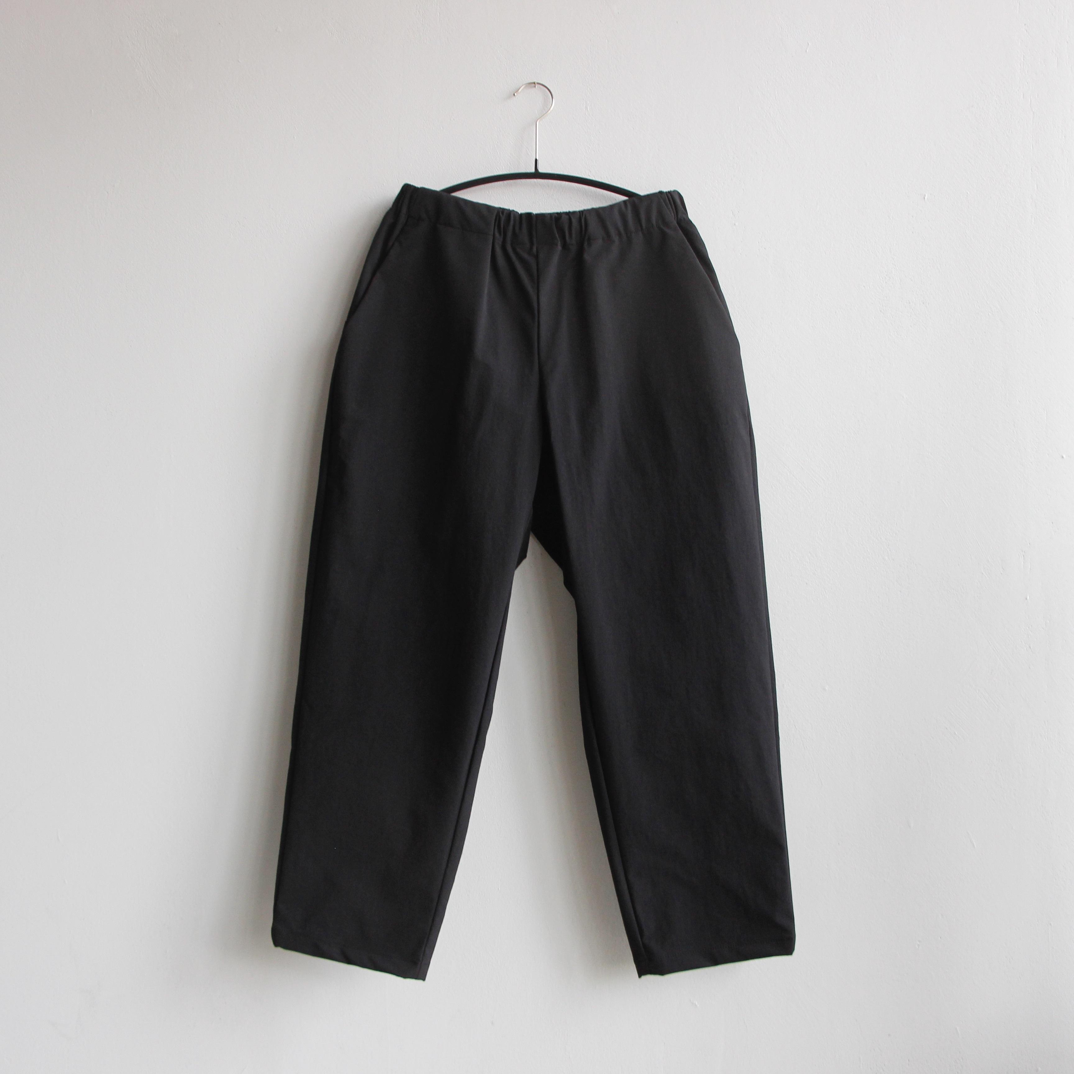 《MOUNTEN. 2021SS》double cloth stretch pants / black / size0(145-155cm程度)