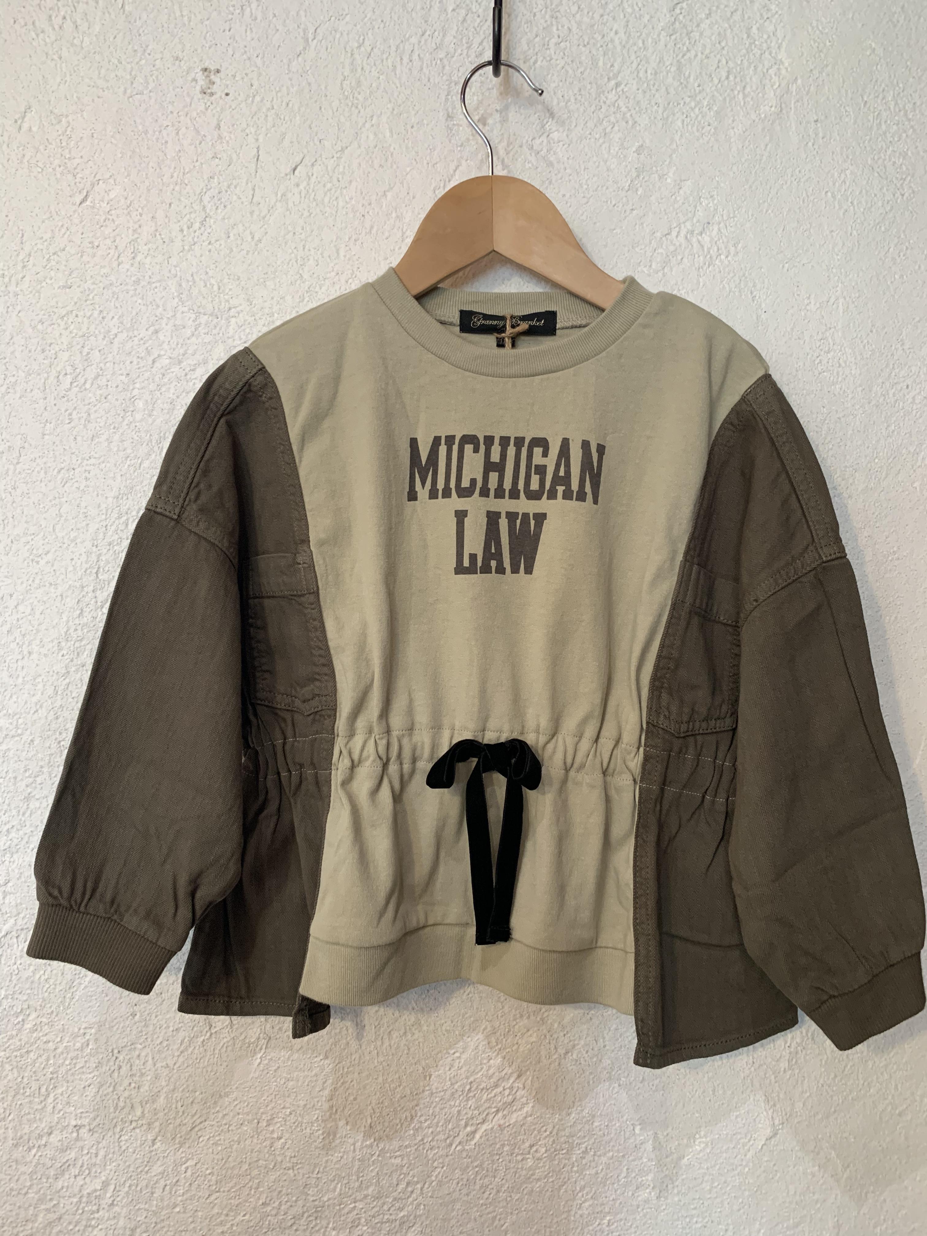 KIDS:granny branket/リメイクギャザーTシャツ 150.160(S、M)㎝