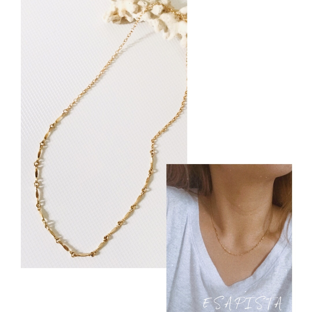 14kgf mix chain necklace