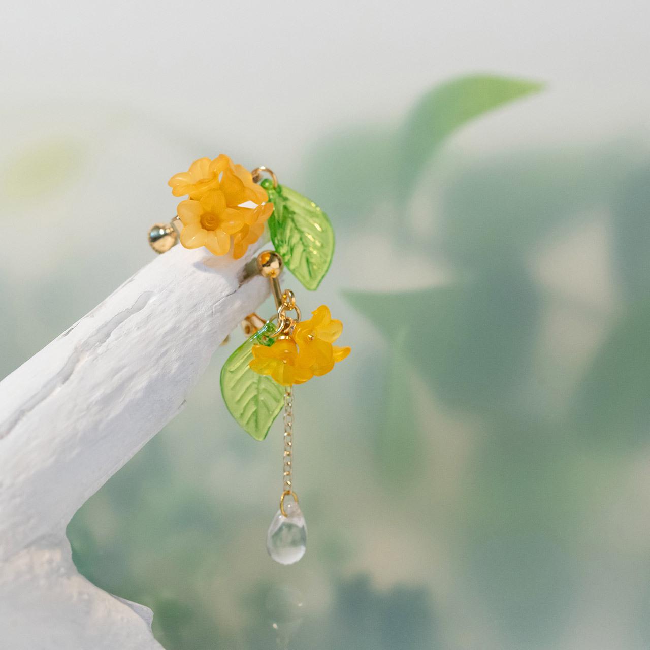 金木犀のイヤリング&ピアス