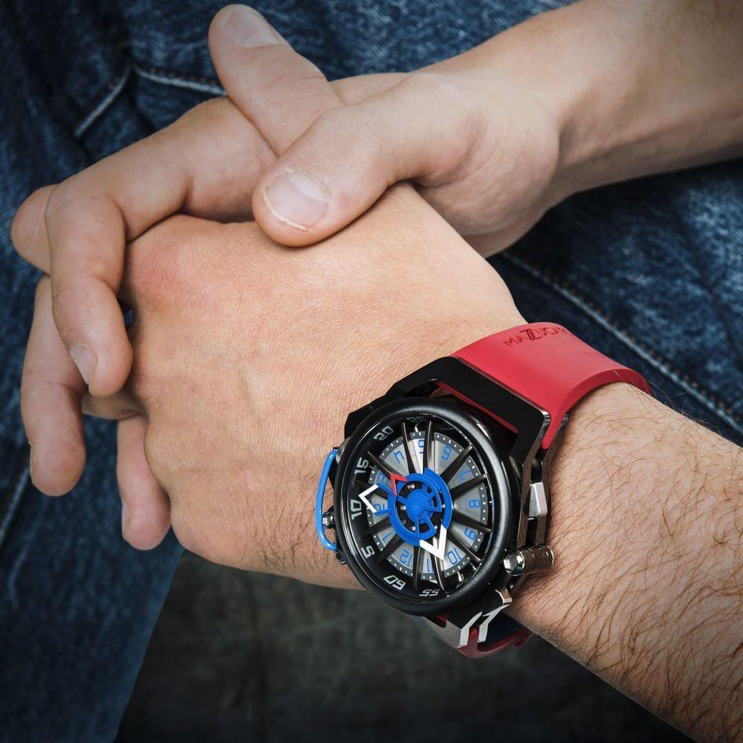 【MAZZUCATO マッツカート】RIM-07(レッド×ブルー)/国内正規品 腕時計
