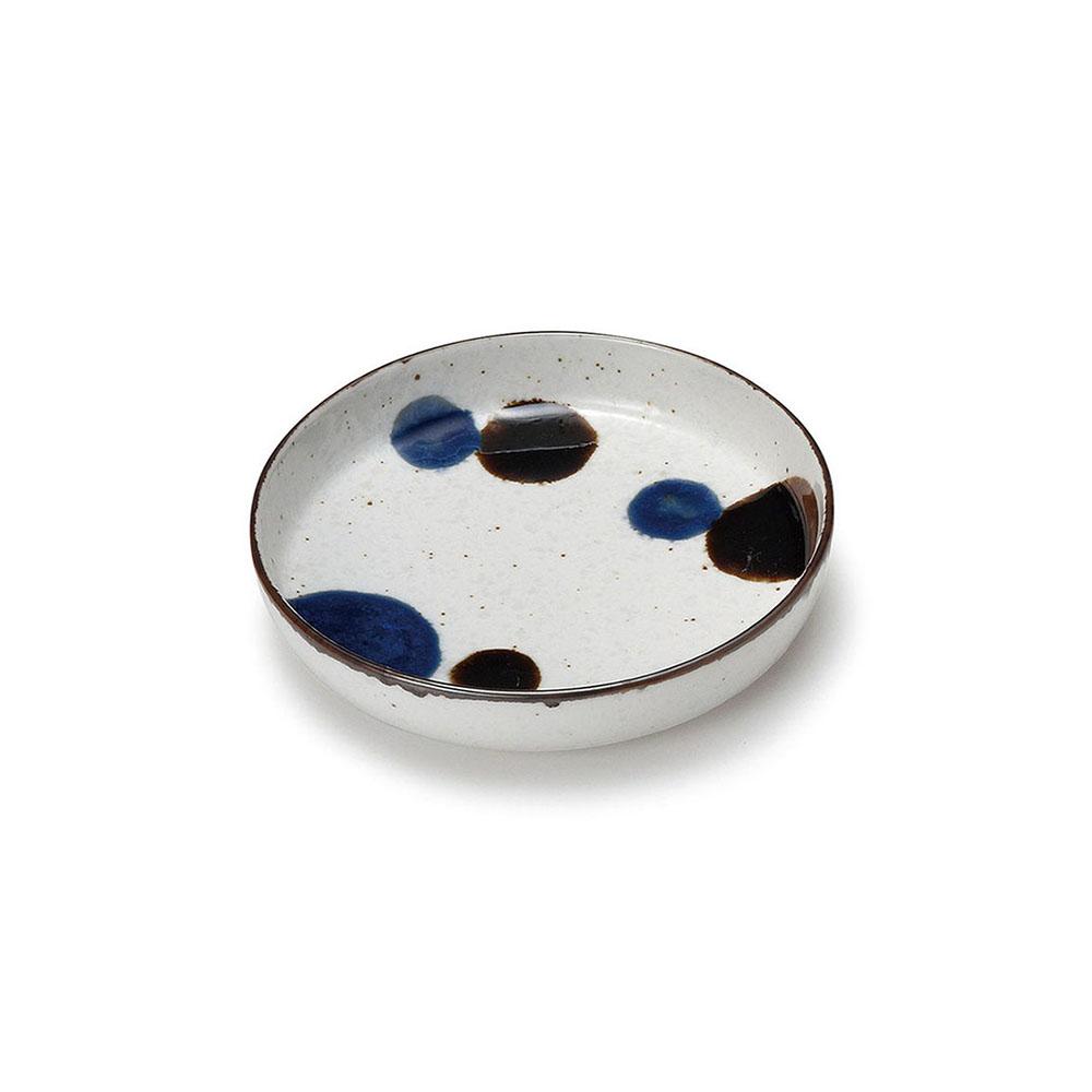 「るり玉 Dots of Ruri」取り皿 深皿 小 約12cm グレー 美濃焼 288085