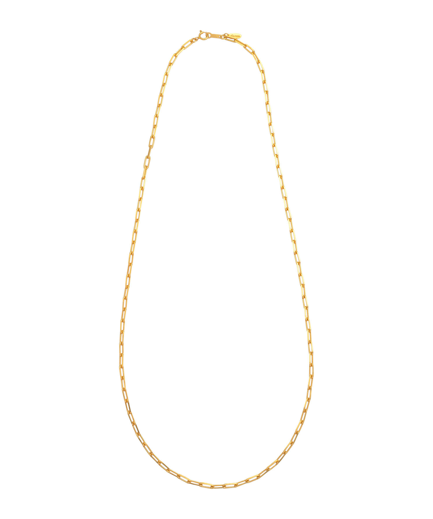 SILVER925 LONG CABLE CHAIN NECKLACE-GOLD[REA138]