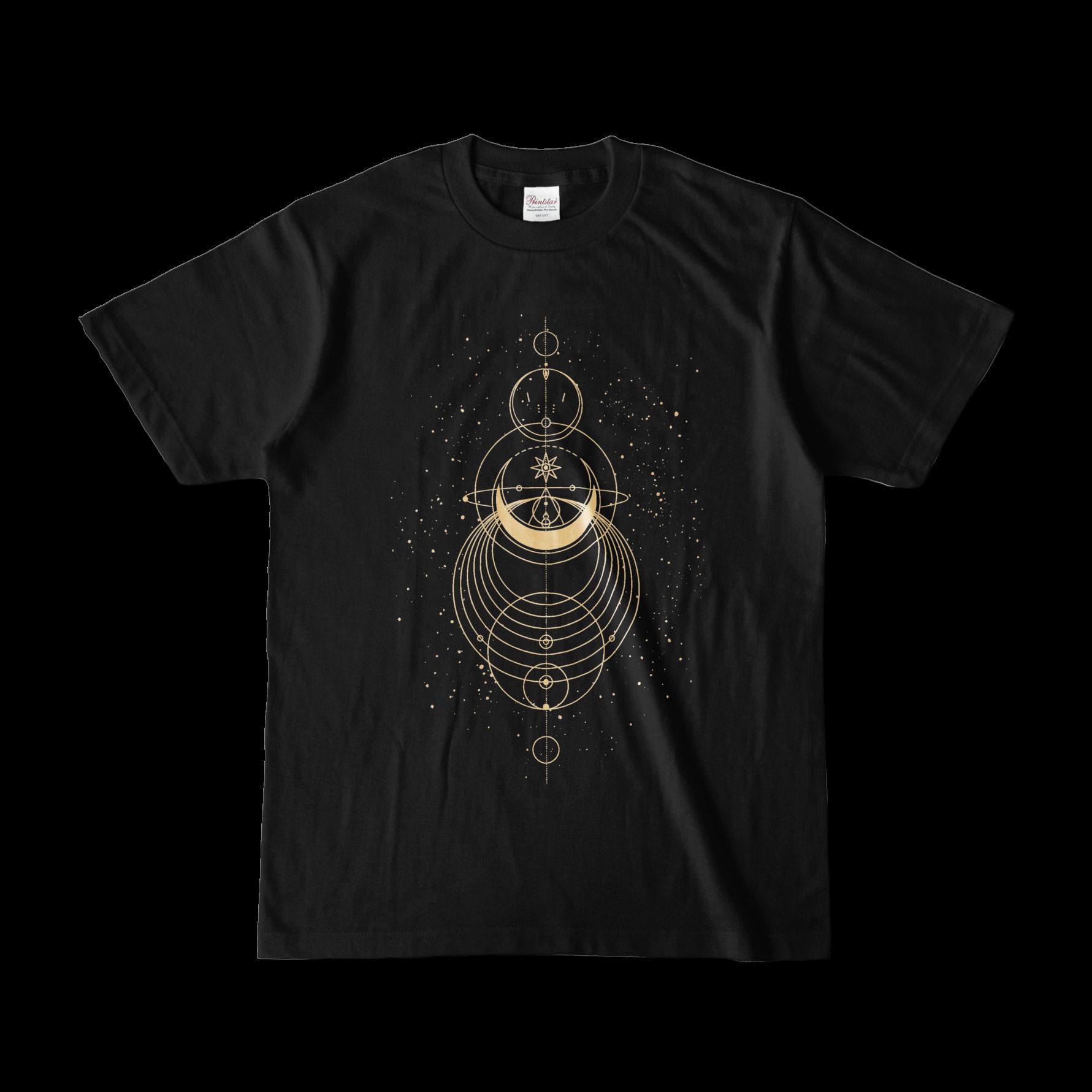 Geometric オリジナルデザインTシャツ ブラック