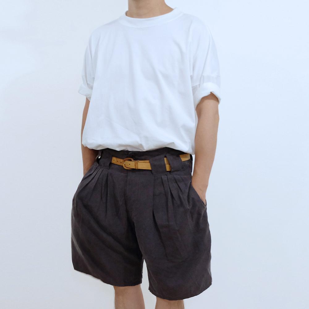 96% Wide-Tshirt_Organic cotton x RE:Nylon [ White ]