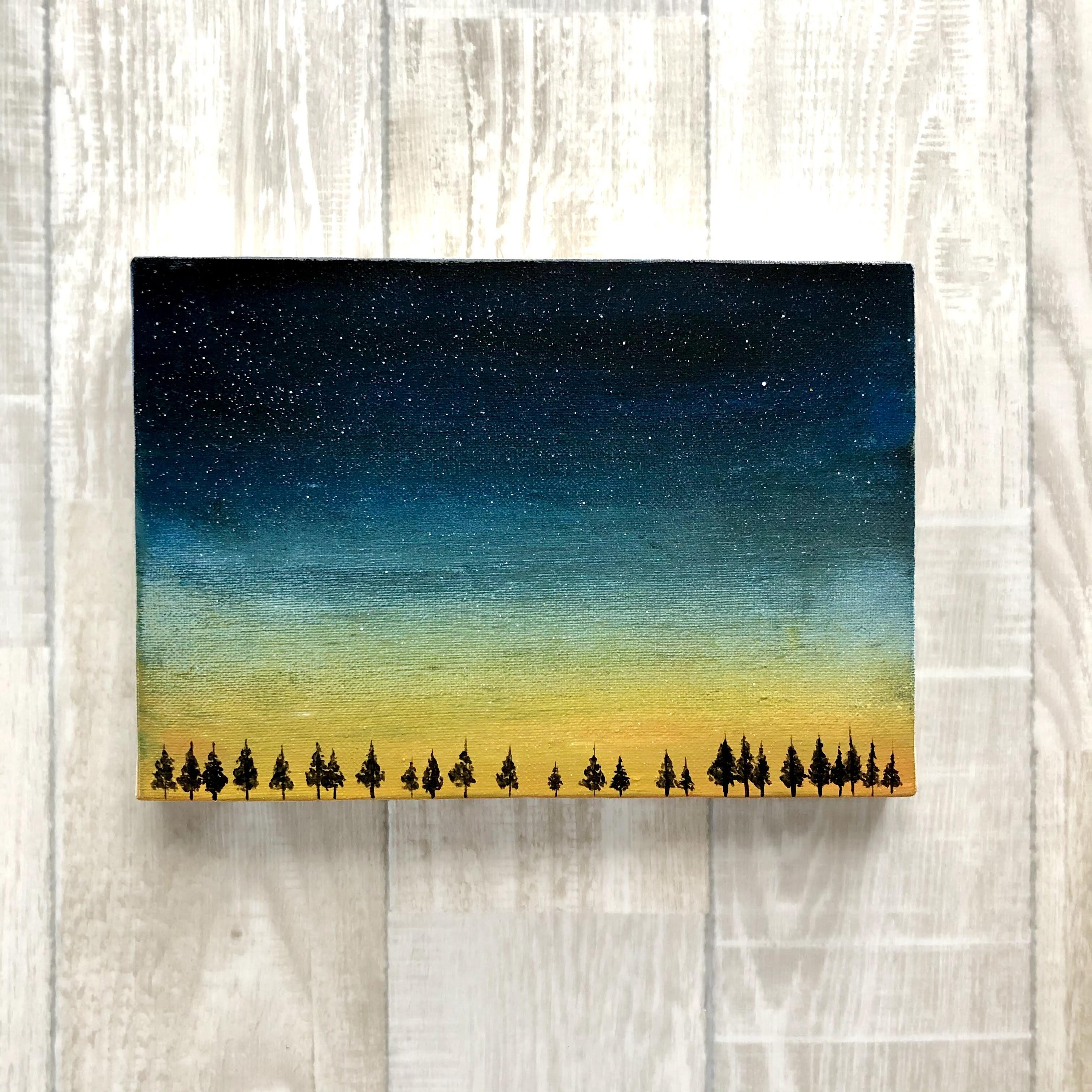 「夜が来る」 キャンバスパネル風景画