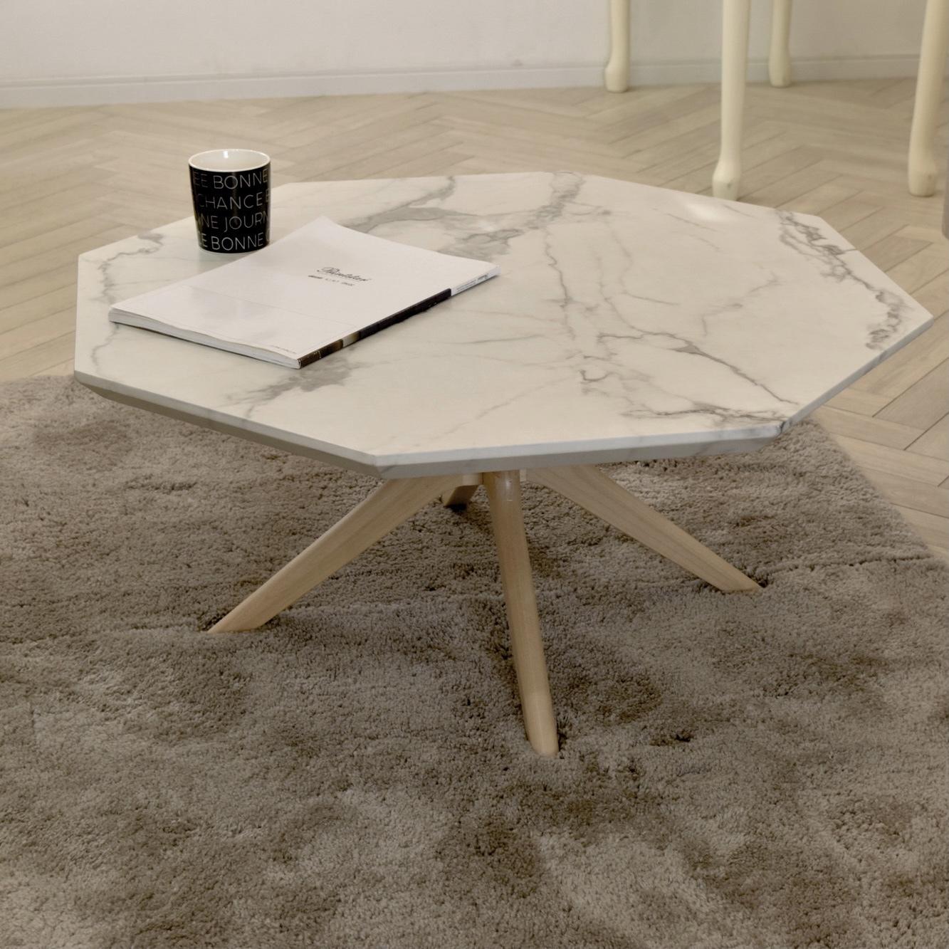 Marble Center Table 750 / 大理石モダンスタイル 大理石調 センターテーブル 750