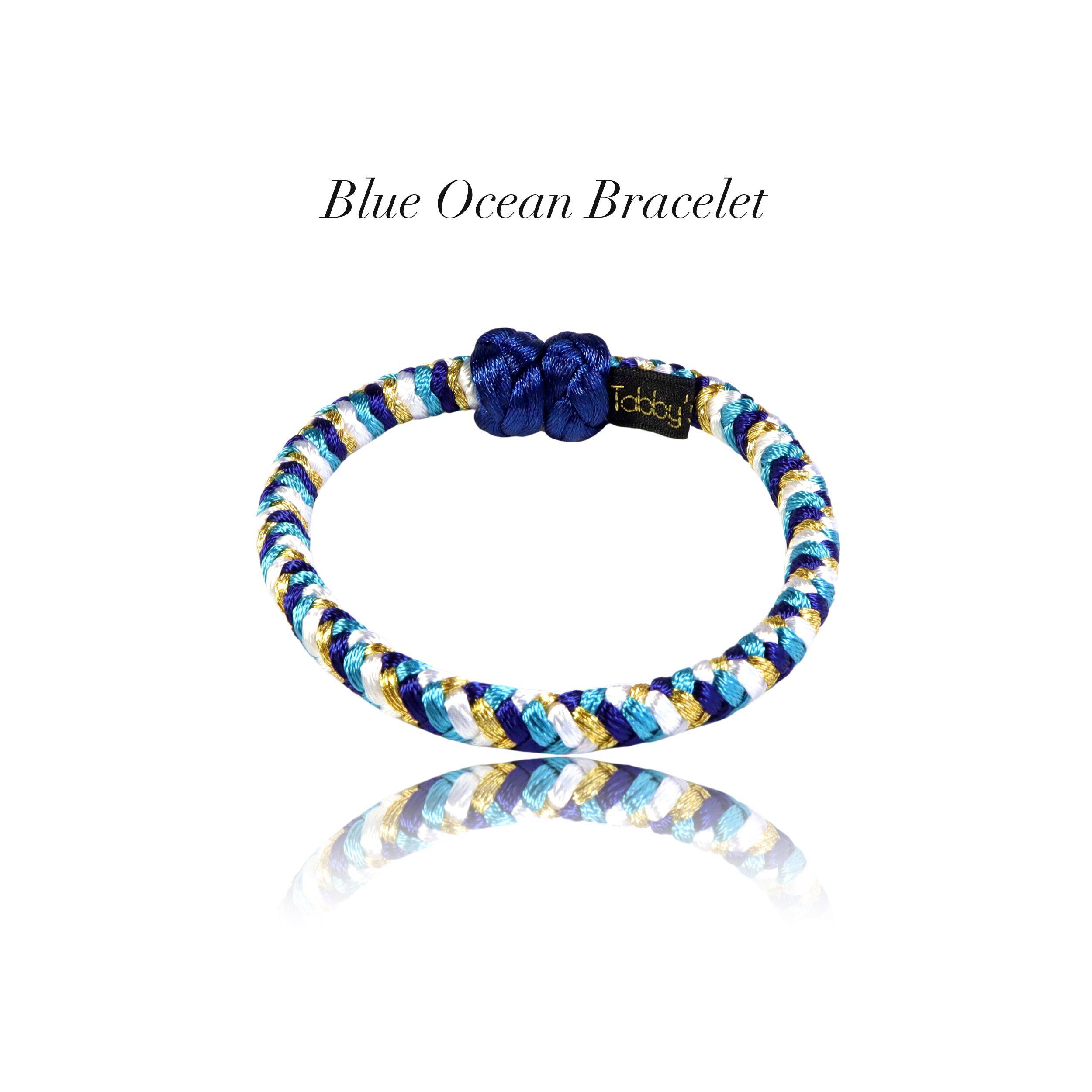 【アクセサリ】Blue Ocean 組紐ブレスレット