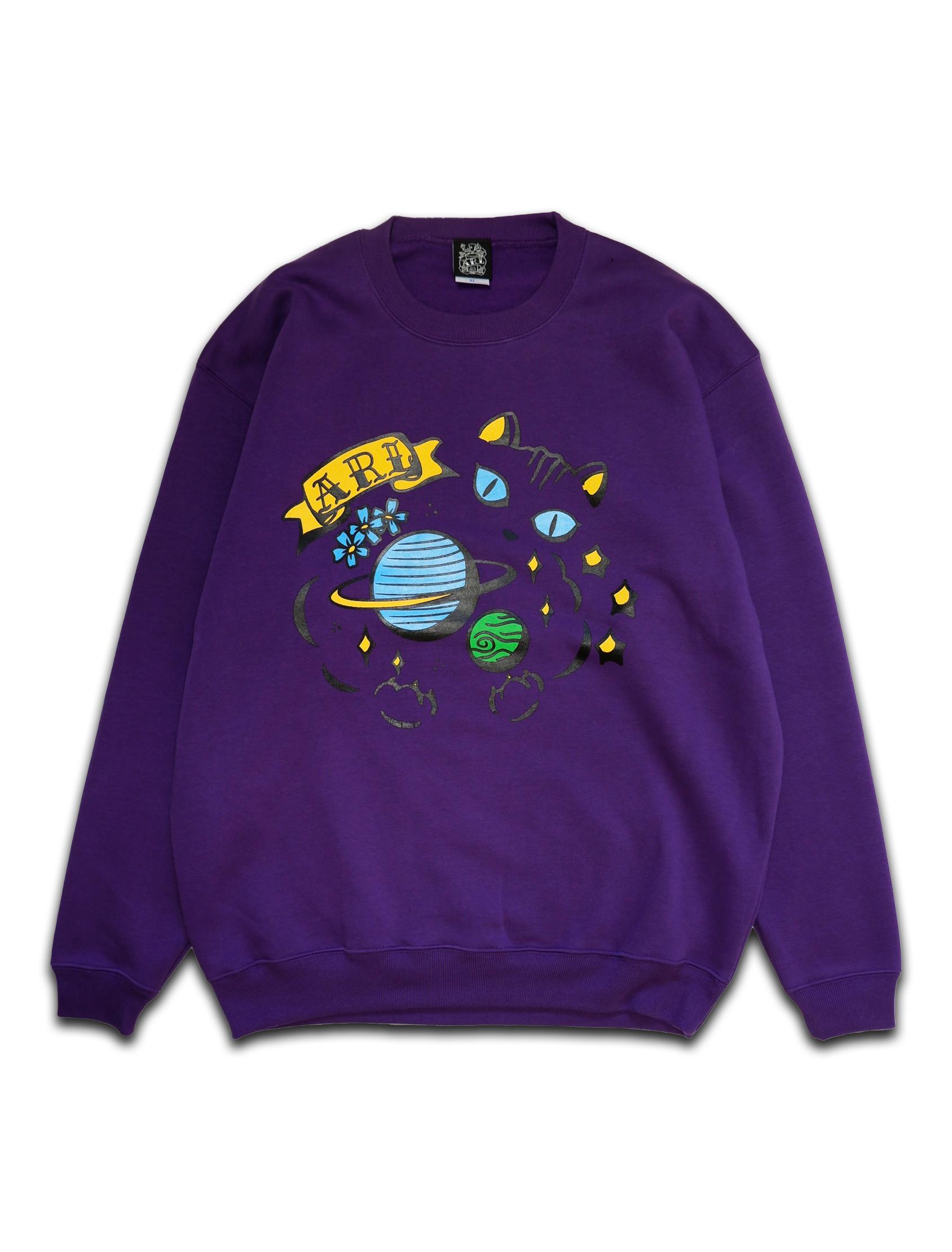 SPACE CAT SWEAT purple