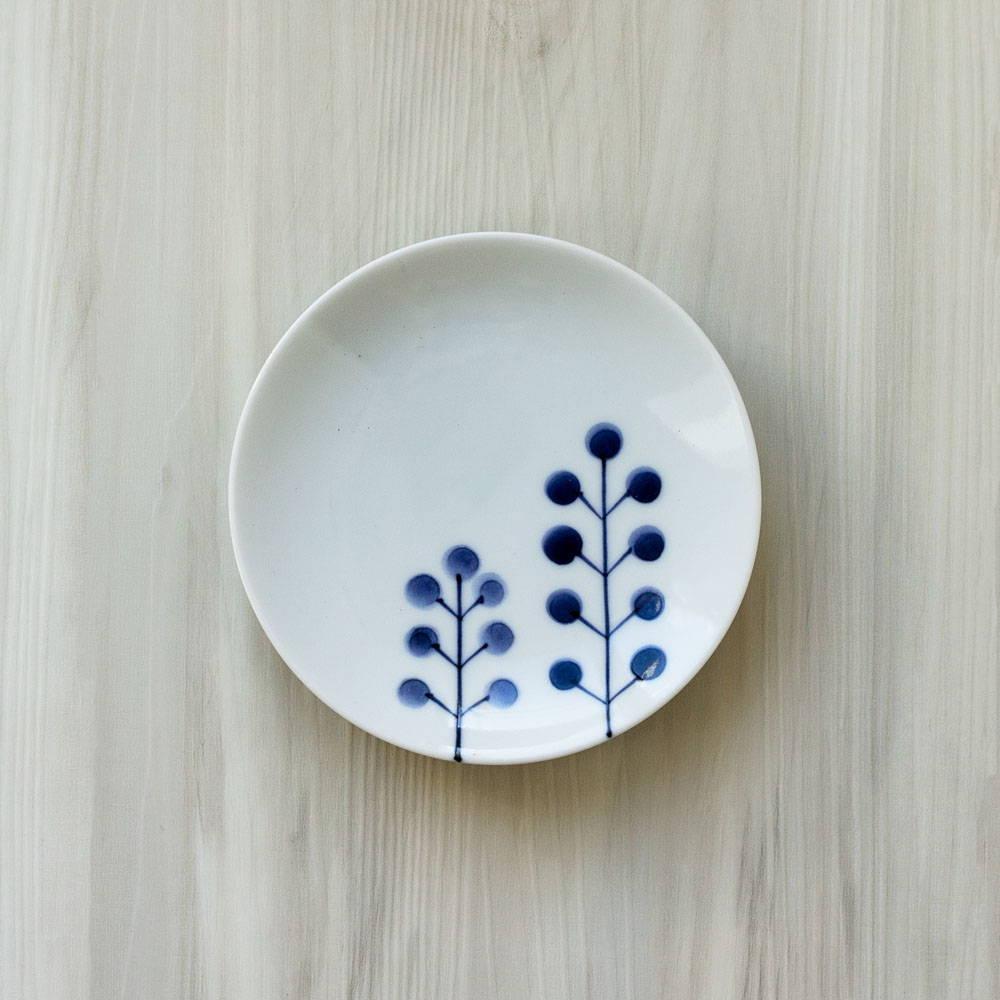 浜陶 波佐見焼 和山窯 flowers 小皿 ドットツリー 385780