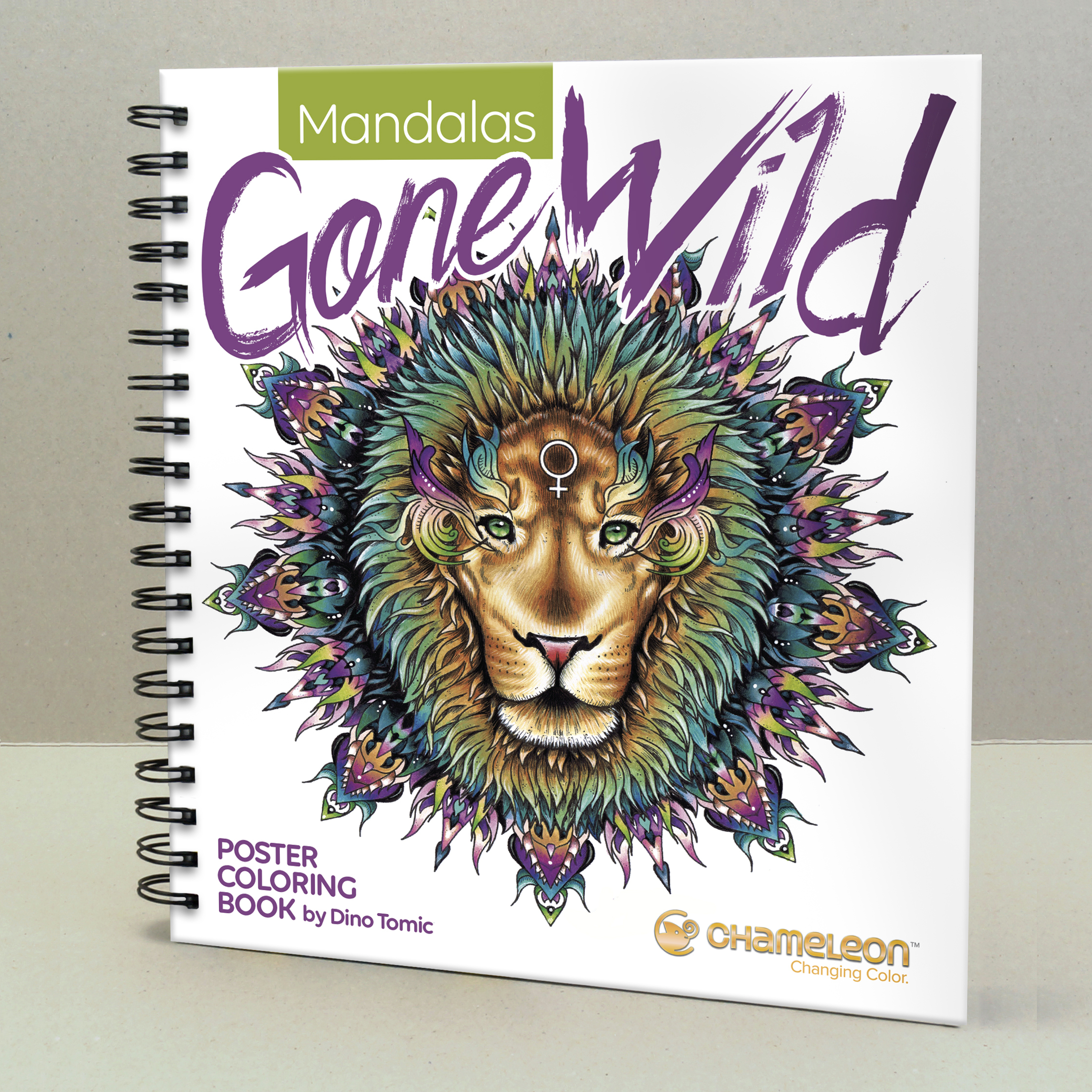 Chameleon Pen Mandalas Gone Wild Poster Coloring Book (カメレオンペン マンダラゴーンワイルド カラーリングブック)