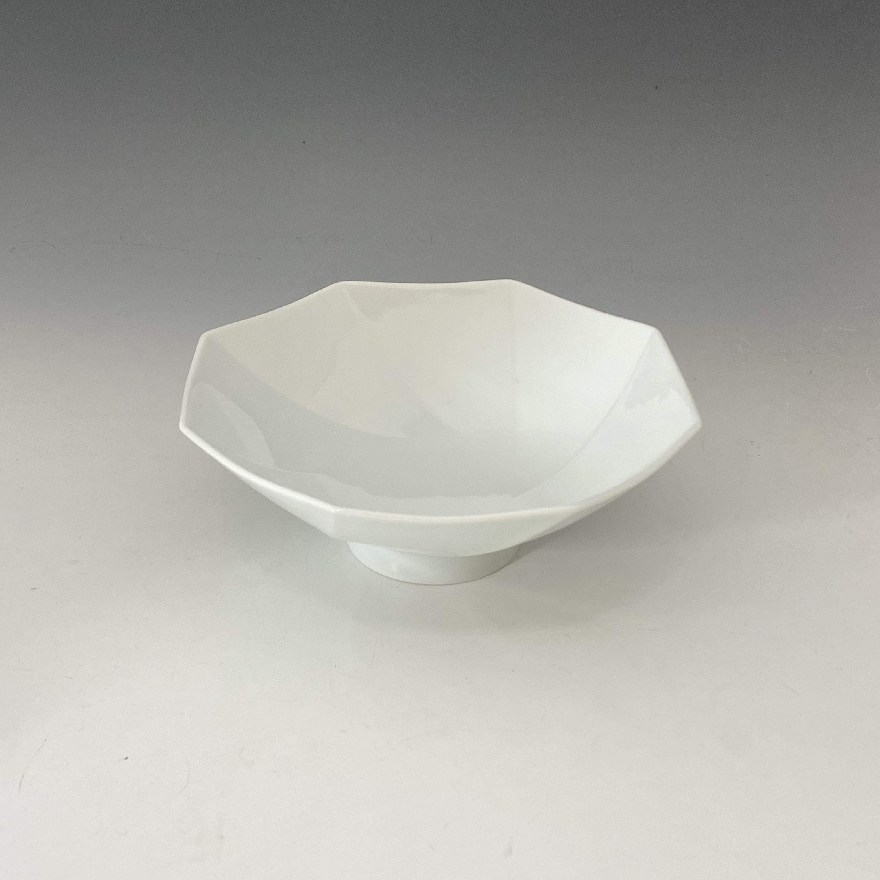【中尾純】白磁八角鉢
