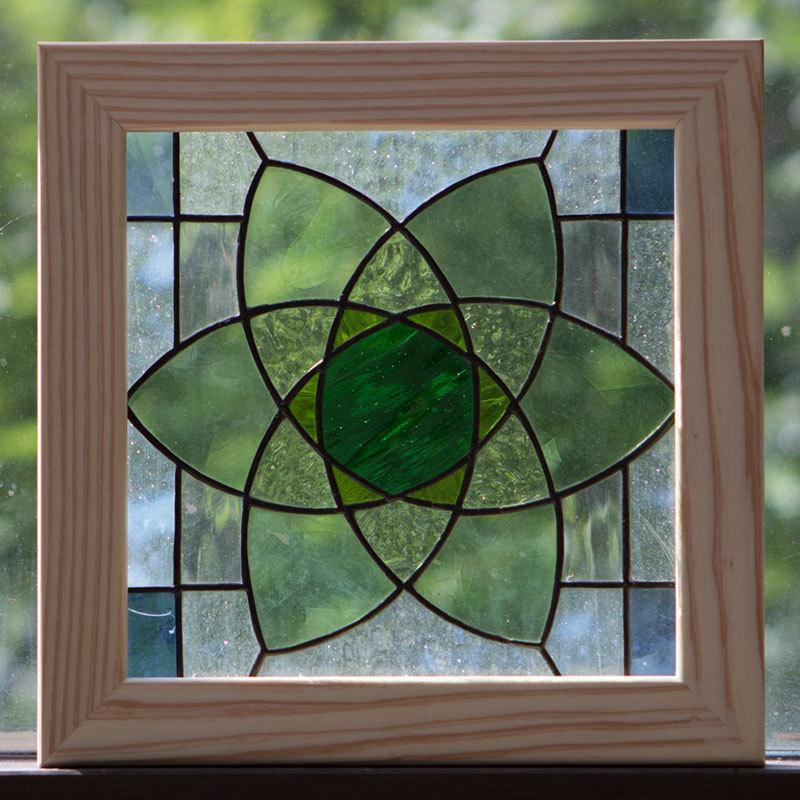 ブローグリーン(ステングラスのアートパネル) 03050120