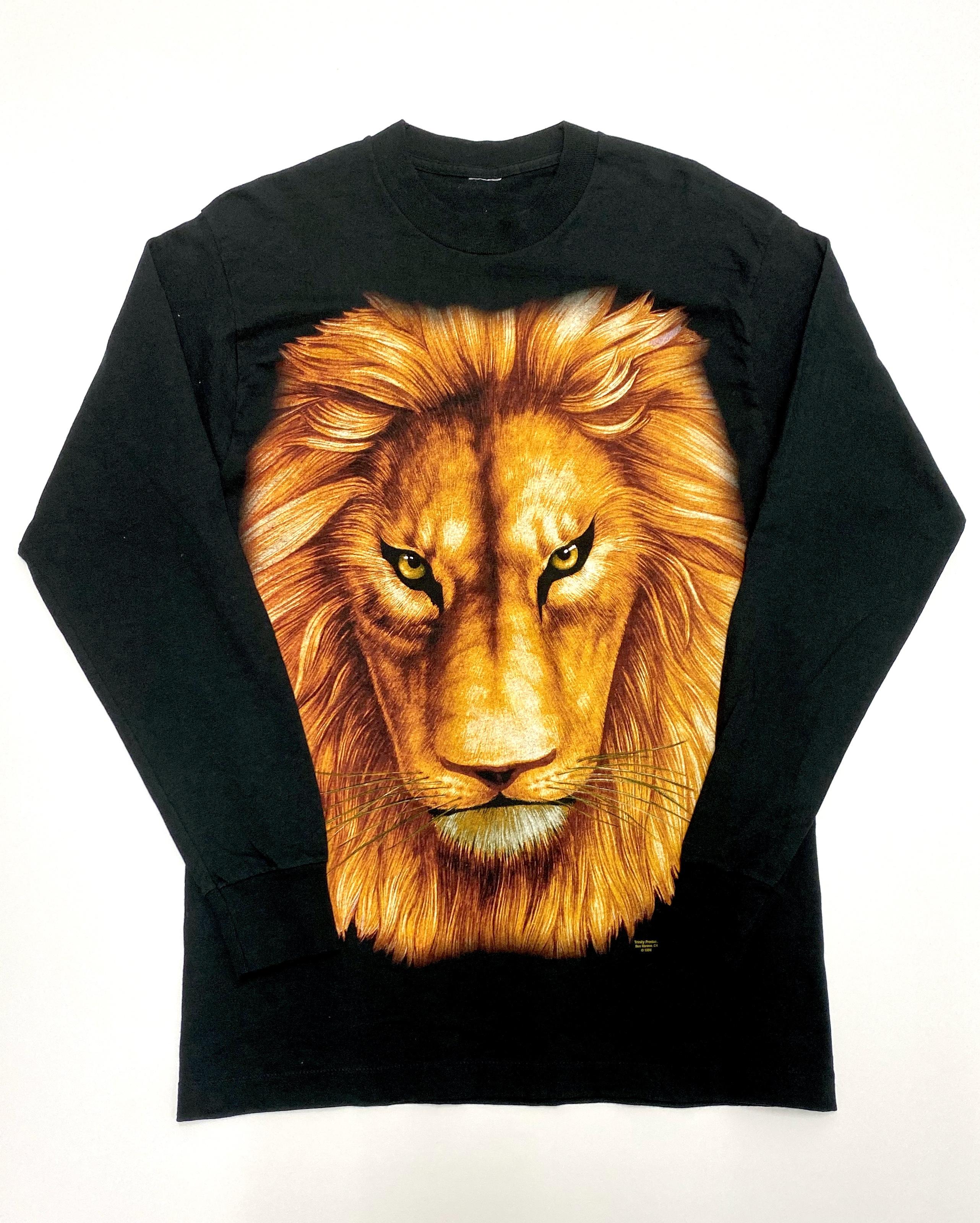 90s  L/S  Lion  T-shirts アニマル ライオン Tシャツ 90年代 XL A787