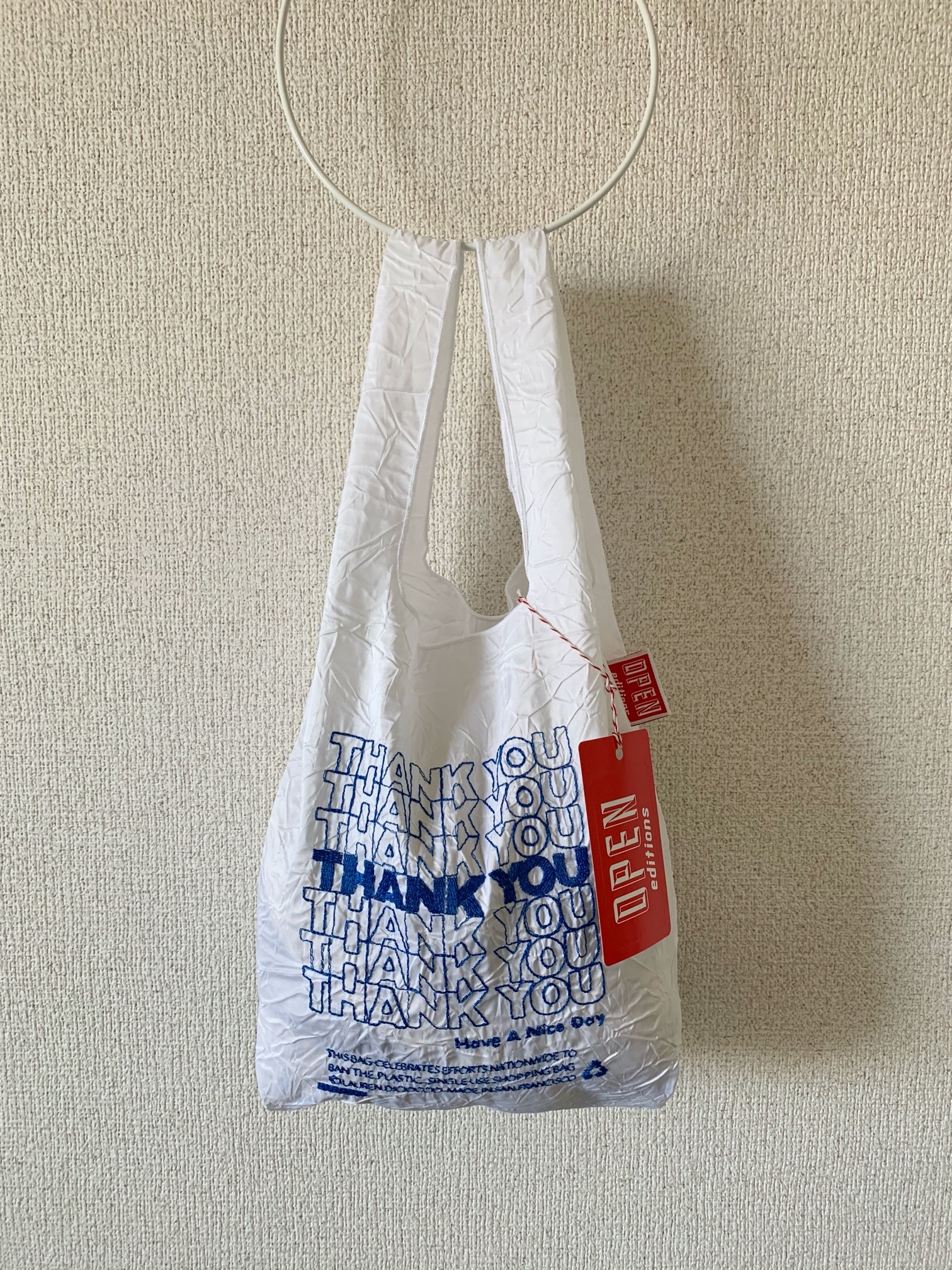 【OPEN EDITIONS / 送料無料】THANK YOU MINI エコバッグ/ THANK YOU Blue