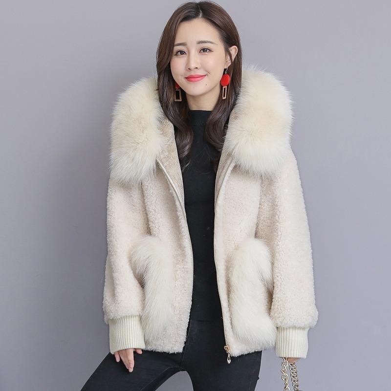 【真冬でもほっとする暖かさ★】ふわふわファーボアコート  あったかフード付き [ゆったりサイズあり]オフホワイト