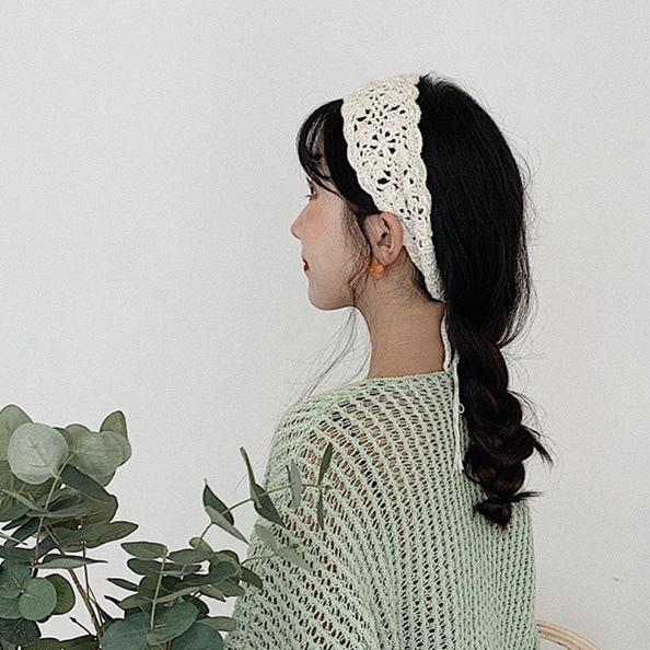 crochet lace head accessory 5c's