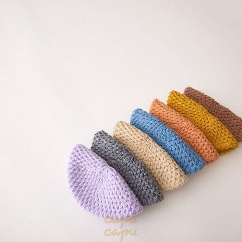 «予約» kids knit beret hat 3colors ニットベレー帽