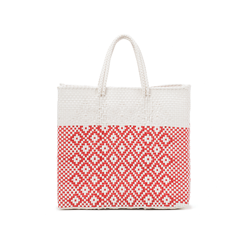 MERCADO BAG 2TONE - White x Red (S)