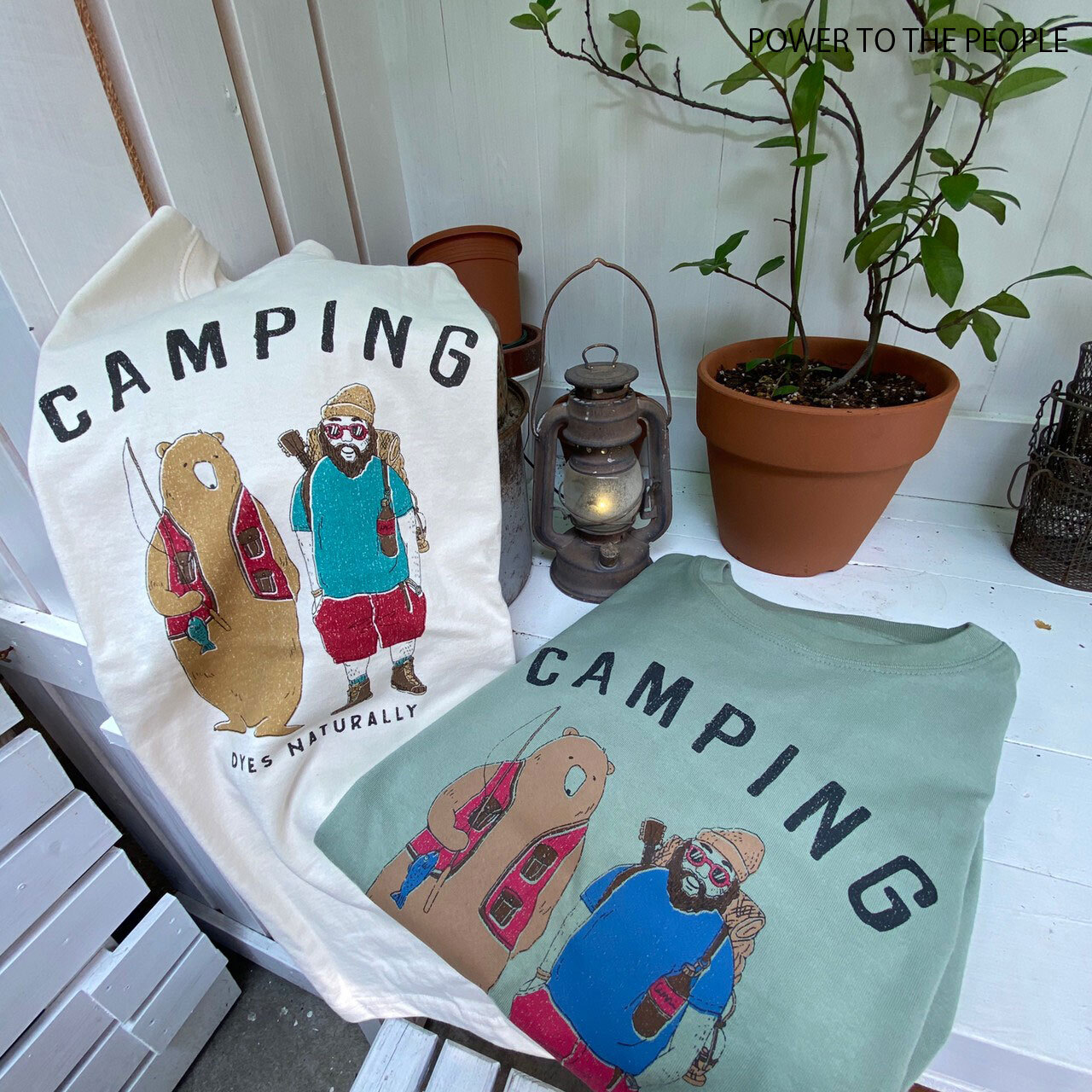 CAMPING柄プリントロンT NO0701055