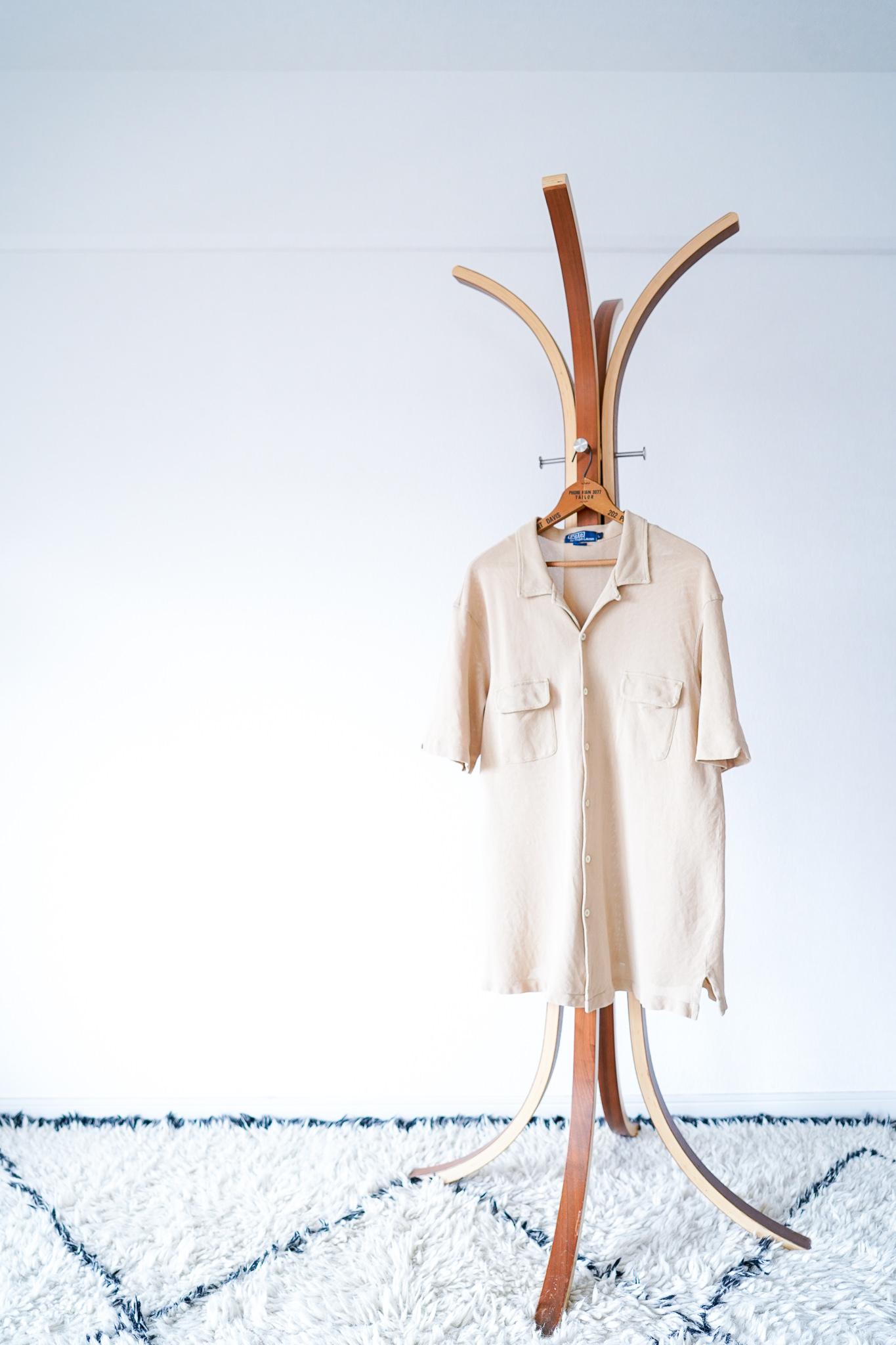 "【1990-2000s】""Polo by Ralph Lauren"" Open collar Cotton-mesh Shirts / v600"