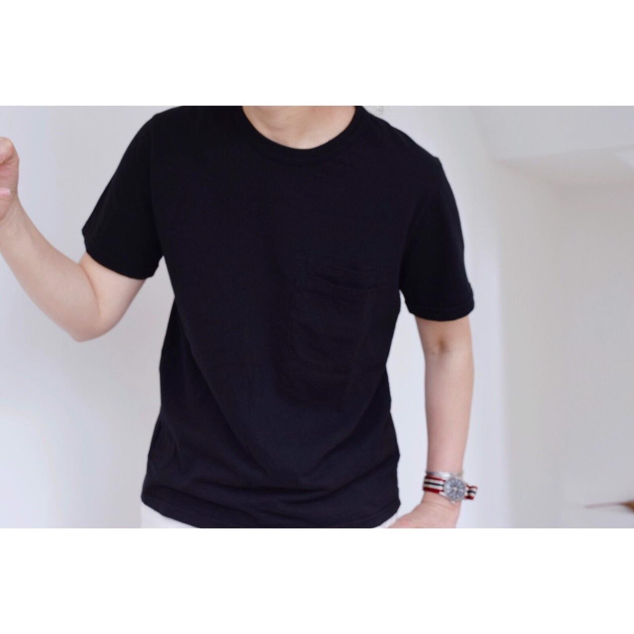 Simva104-0042S-Black W-Pocket S/S Tシャツ