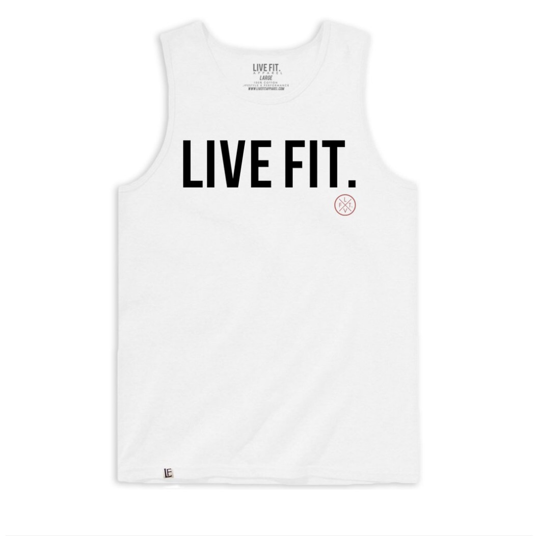 LIVE FIT Classic Tank - White