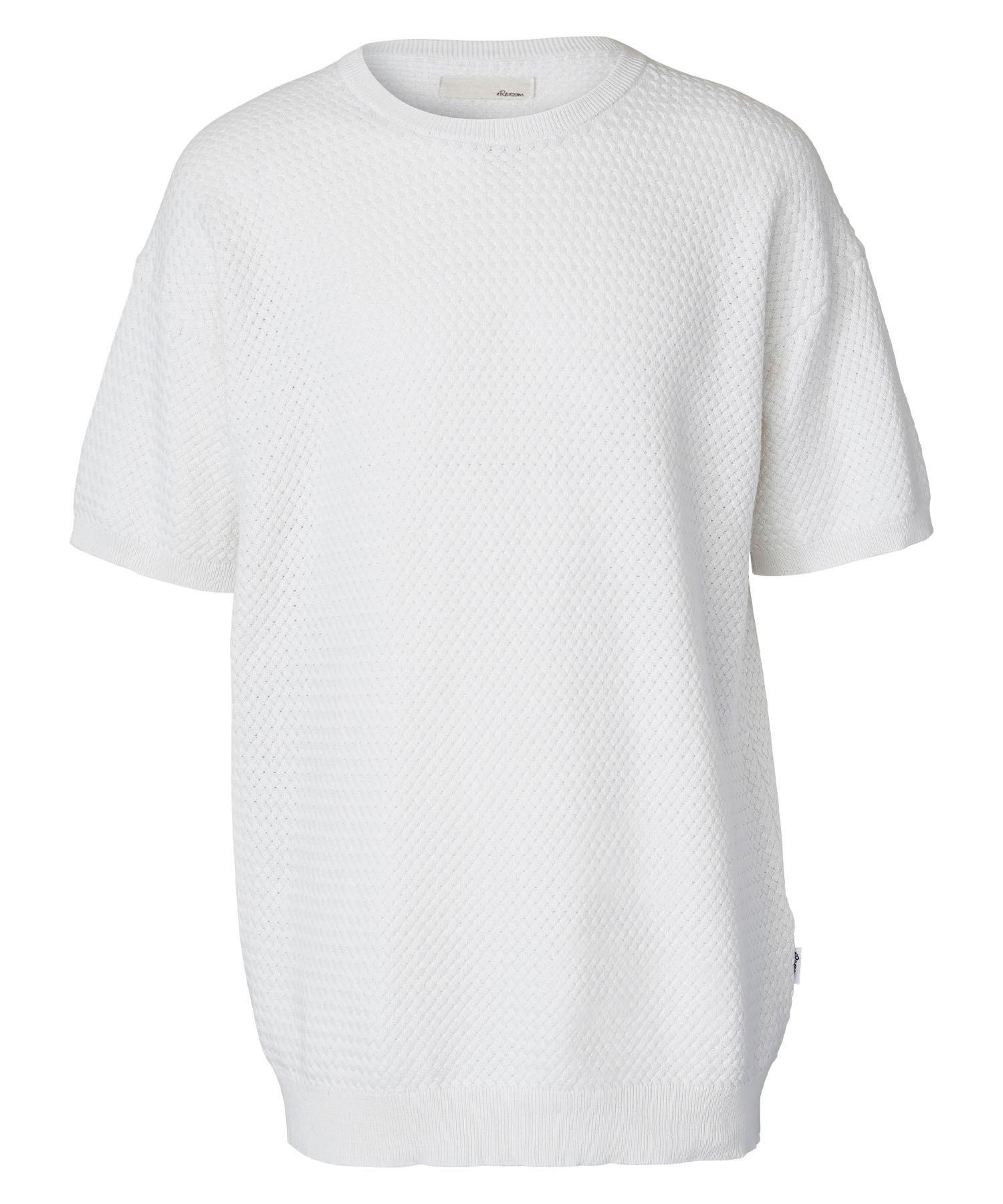 INTRECCIATO COTTON KNIT BIG T-shirt[REK091]