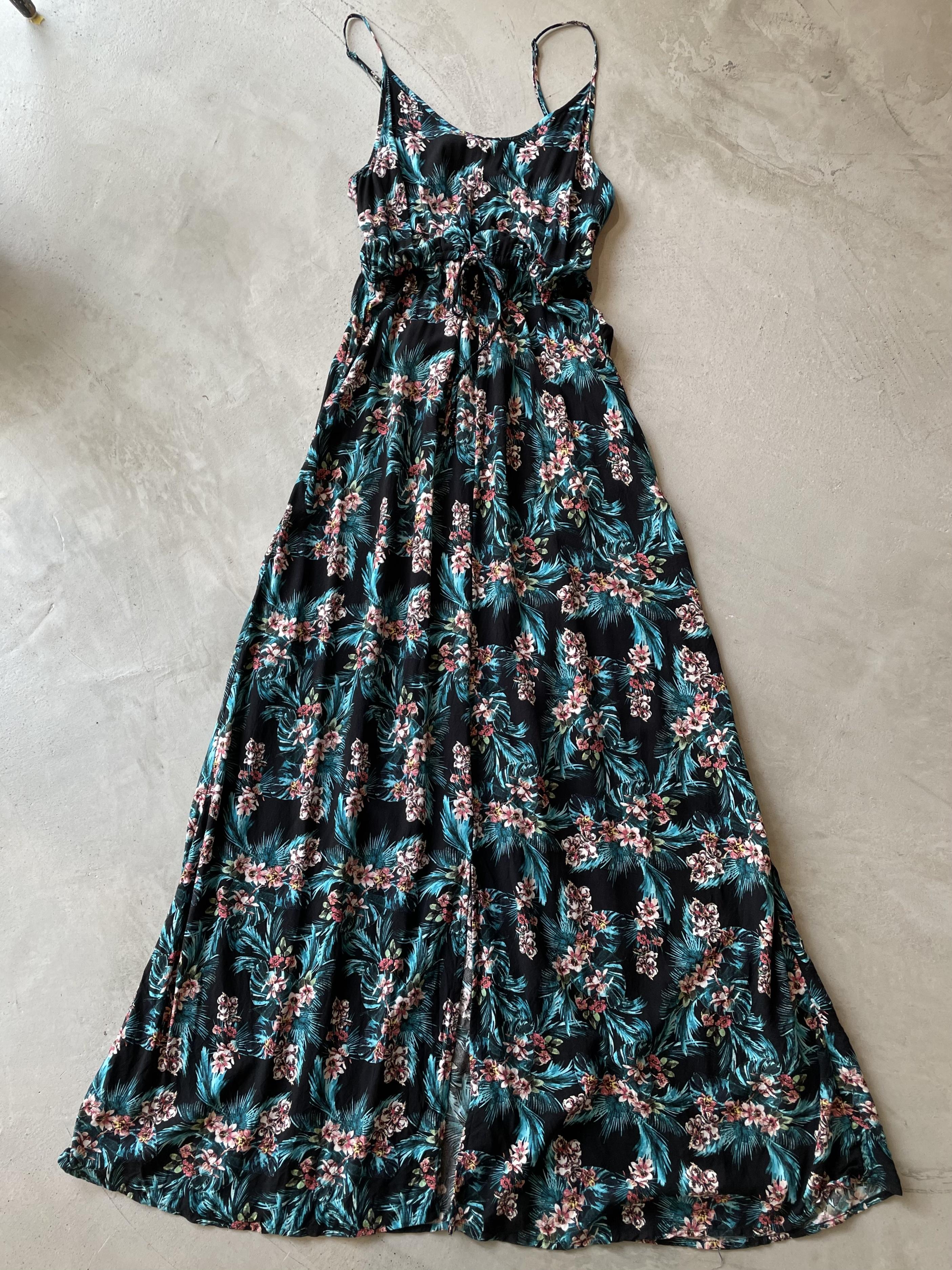 vintage botanical dress