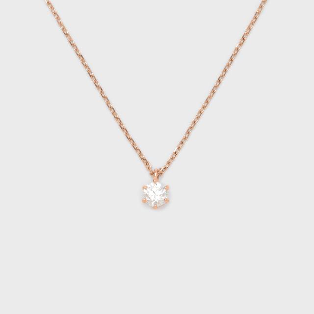 ENUOVE frutta Diamond Necklace K18PG(イノーヴェ フルッタ 0.25ct K18ピンクゴールド ダイヤモンドネックレス スライドアジャスターチェーン)