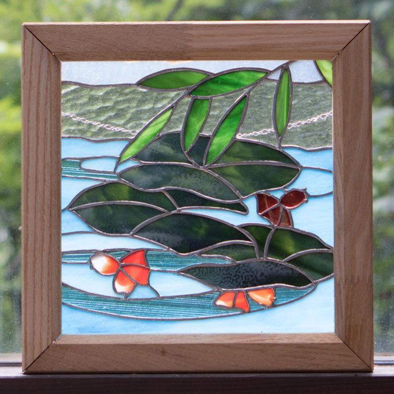 金魚(ステングラスのアートパネル) 03050118