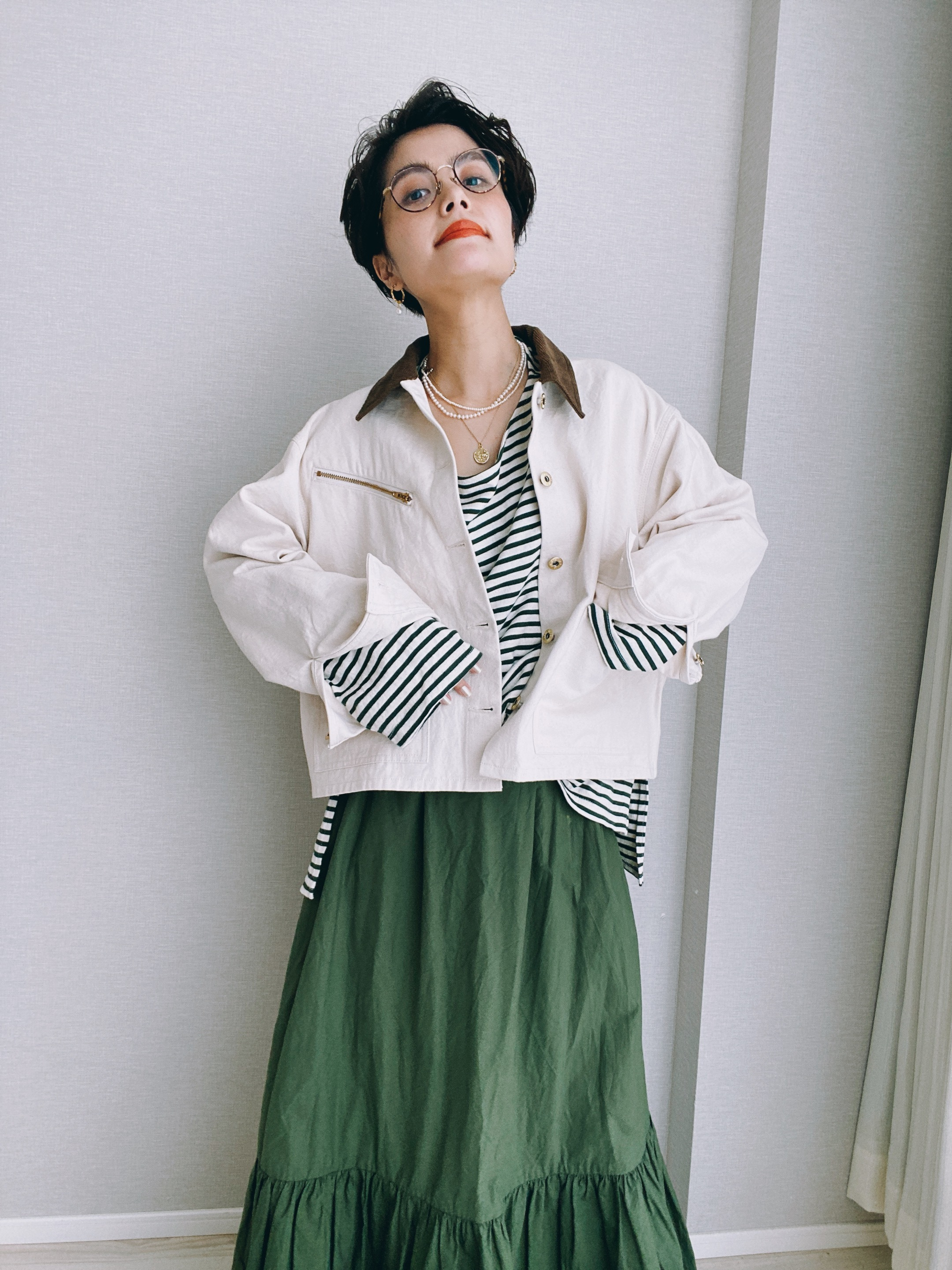 【UNIVERSAL OVERALL × map.】SHORT COVERALL / LADY'S