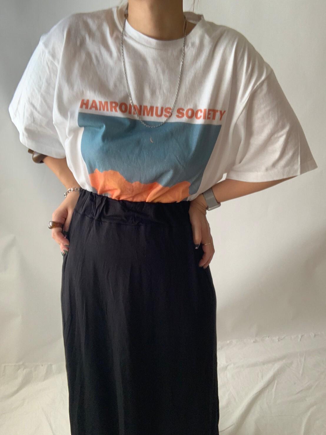 【asyu】i line long skirt