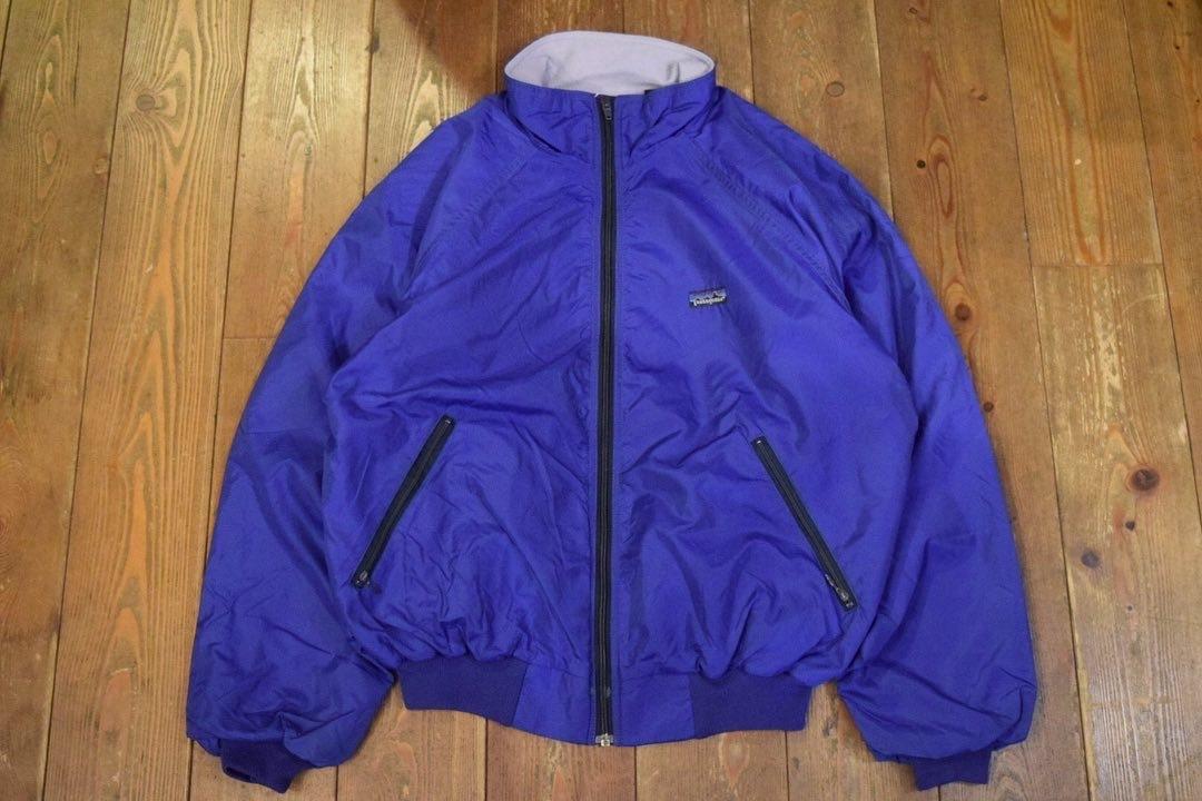 USED 美品 80s パタゴニア シェルドキャプリーンジャケット L ブルー系