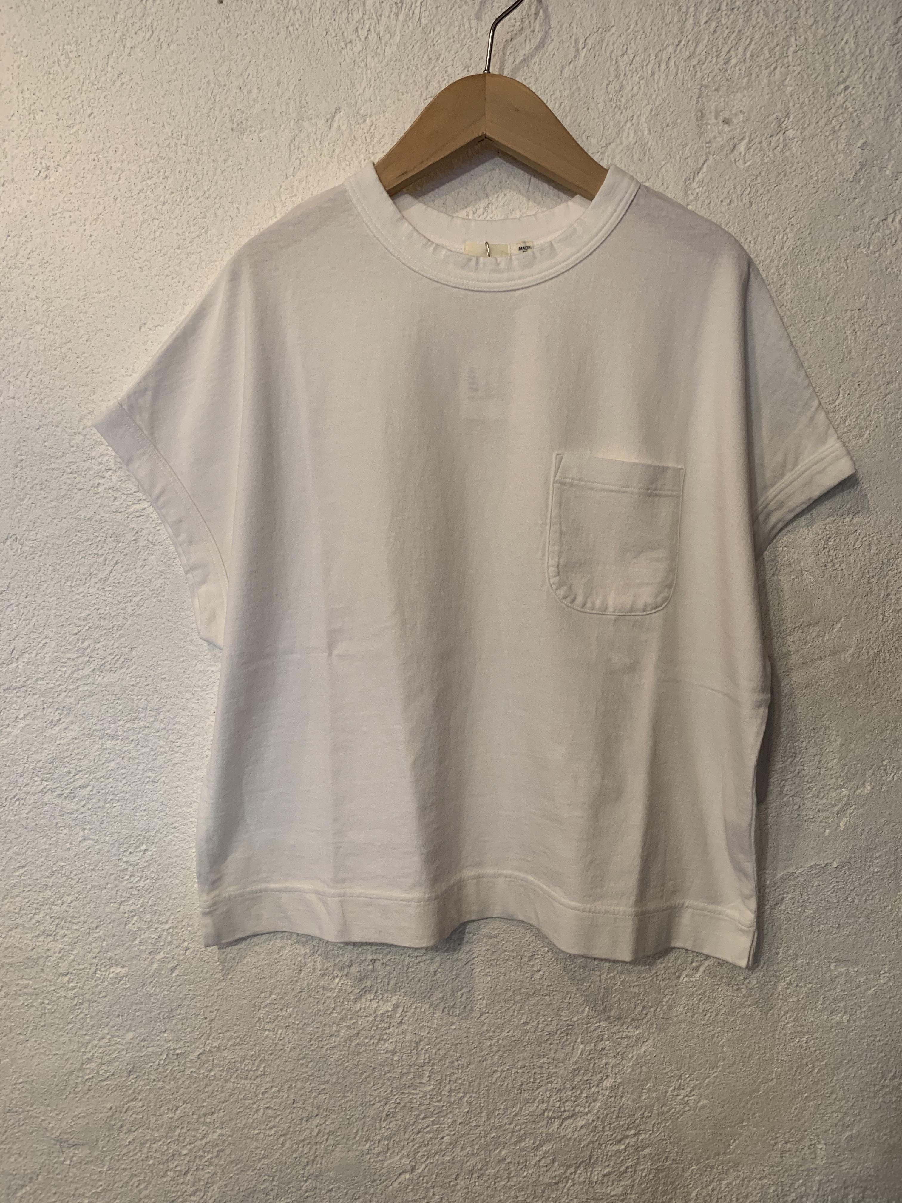 days/アメリカンドライ天竺ポケットTシャツ  オフ