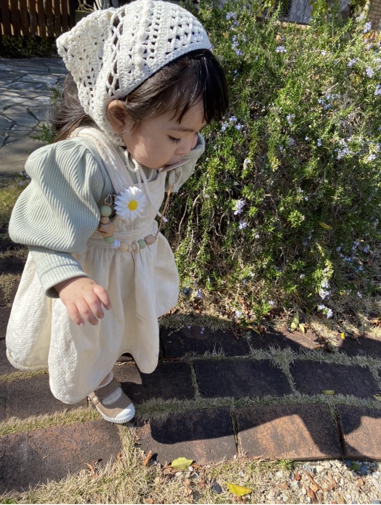 daisy toy holder / white(おしゃぶりホルダー)