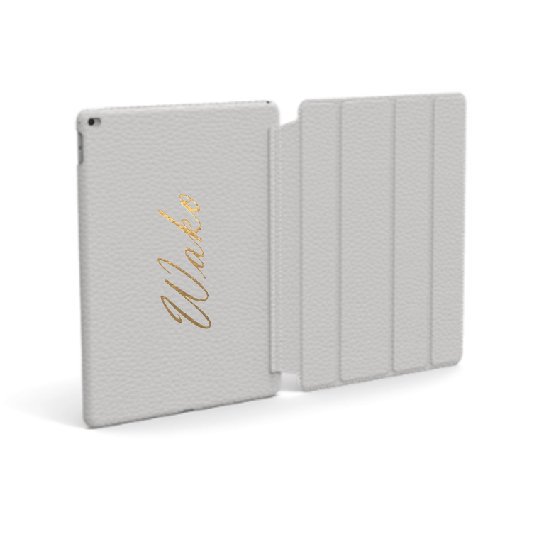 Custom Name iPad Premium Shrink Leather Case (Book Cover Type) (Limited/9月分数量限定)