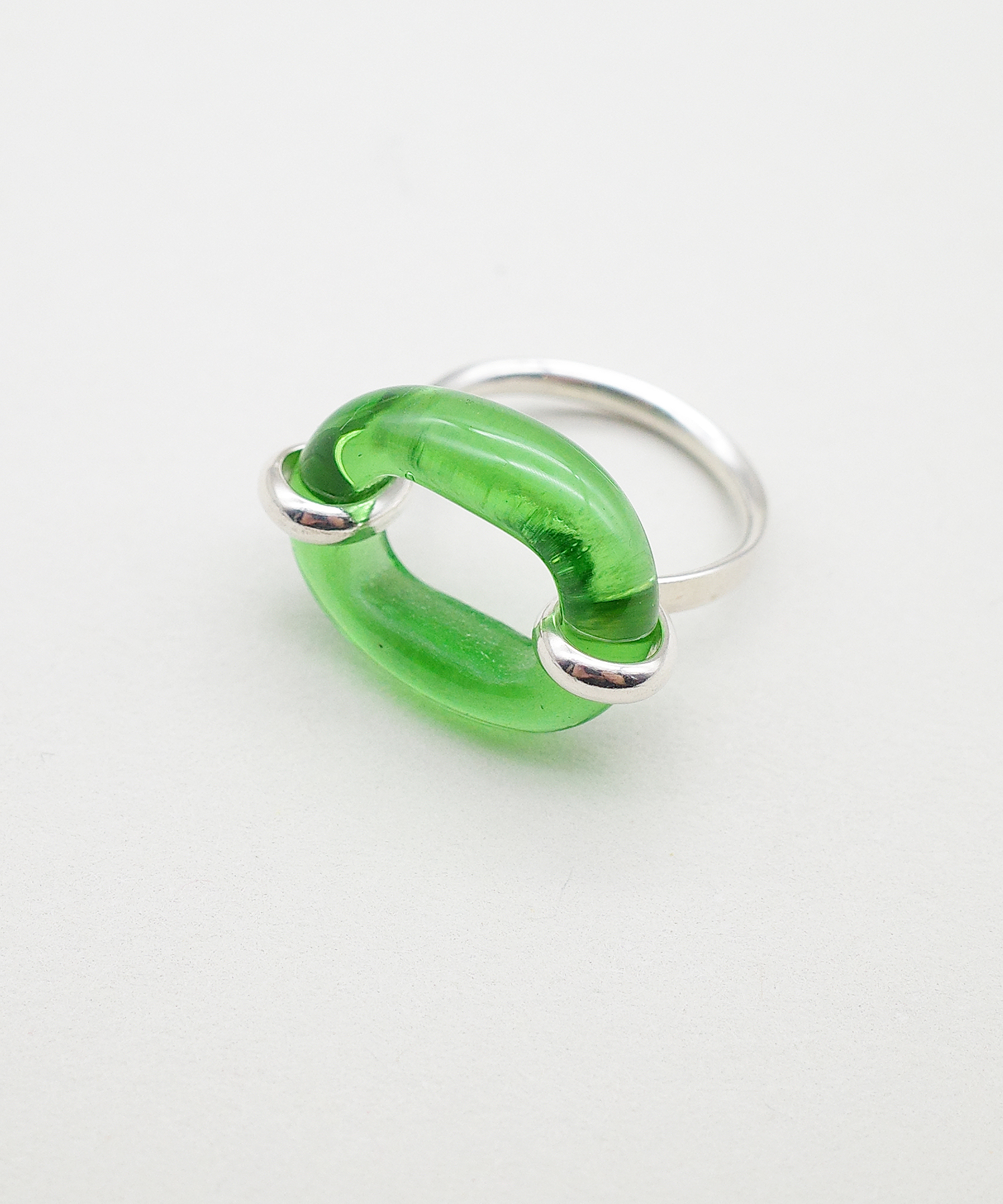 【CLED / クレッド】IN THE LOOP Ring / リング / Sterling silver×Green Forest
