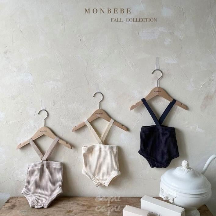 «先行予約割引»«baby» monbebe suspenders bloomers 3colors サスペンダーブルマー