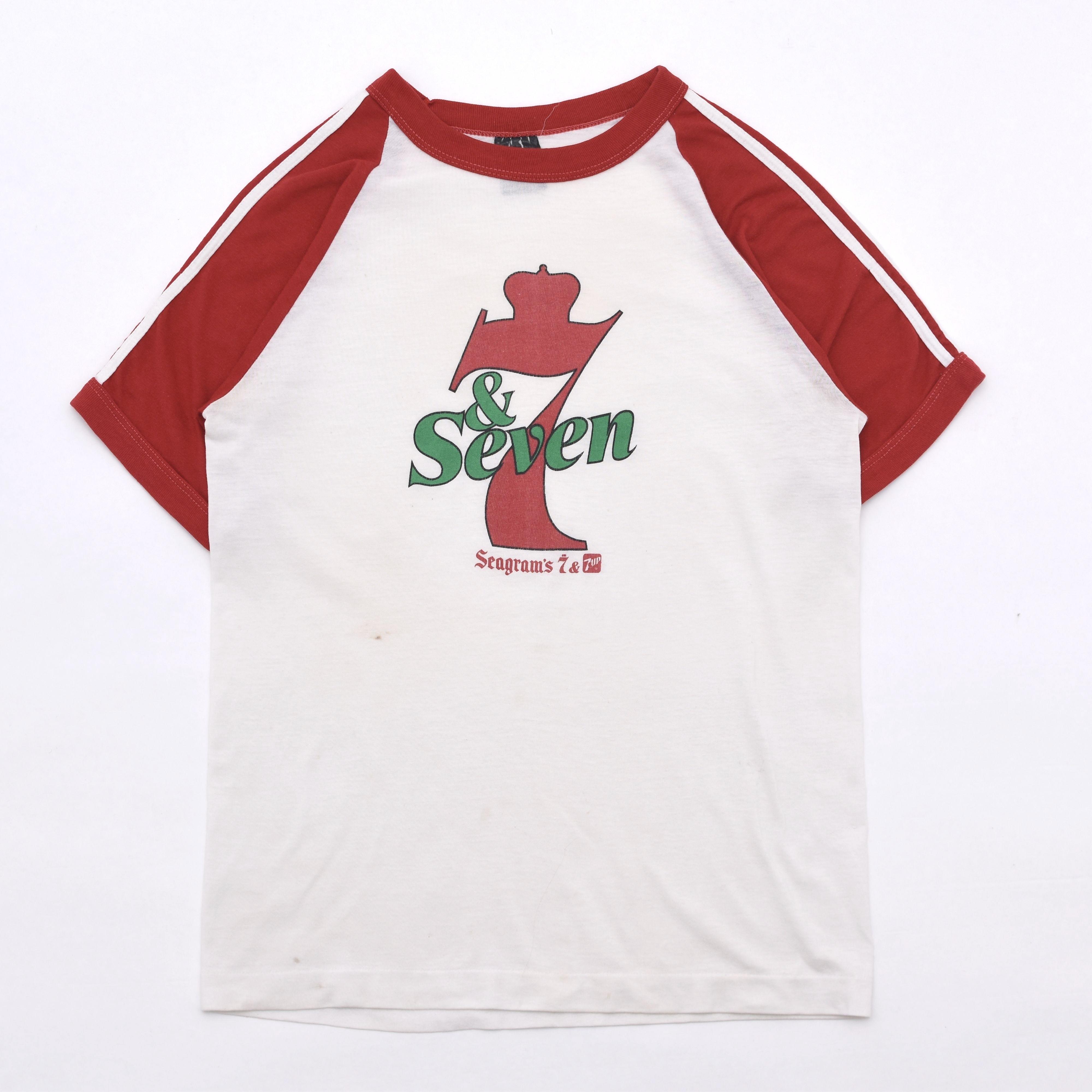 70s vintage Seagram's & 7UP lagran sleeve T shirt