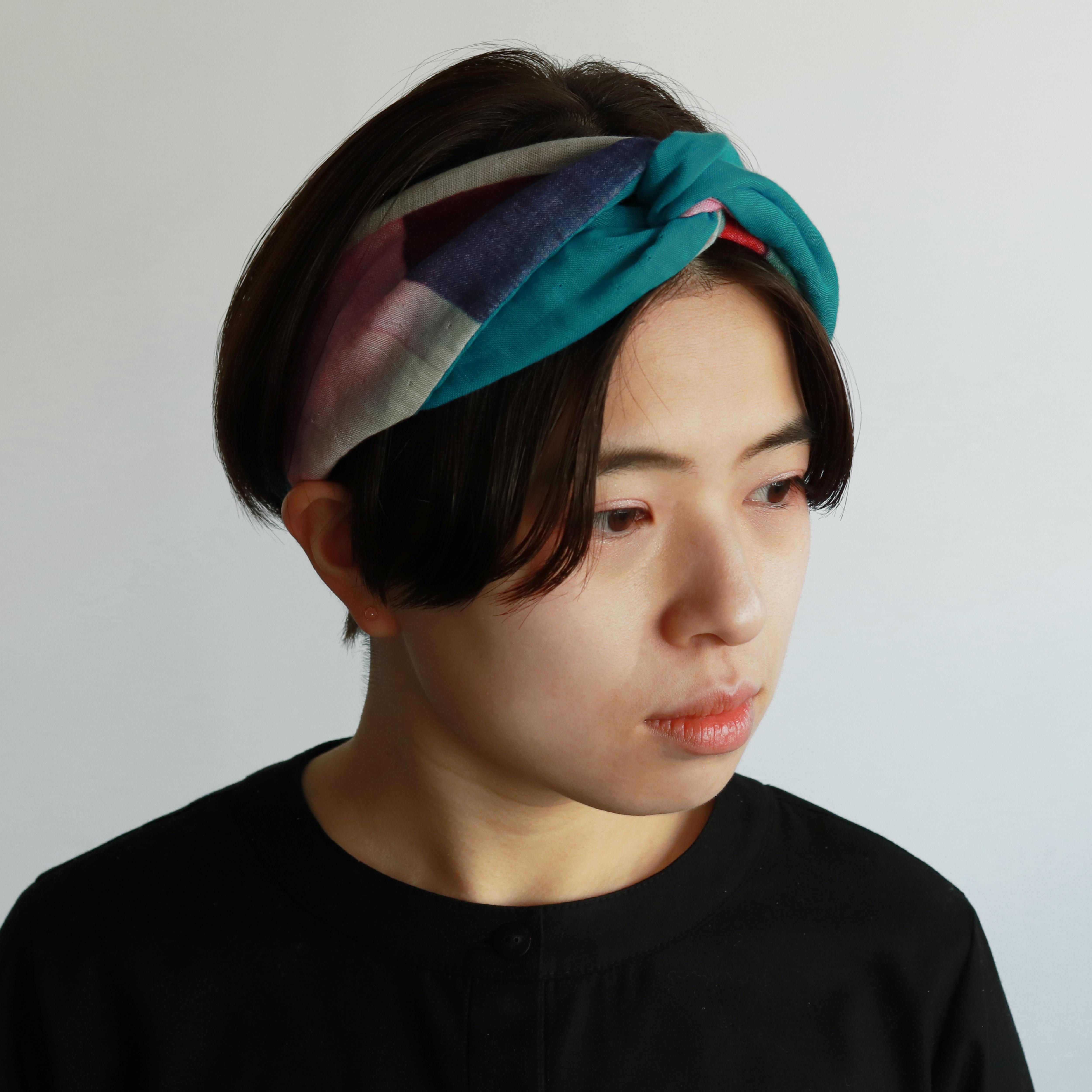 サステナブルな一点もの HAIR TURBAN-6colors