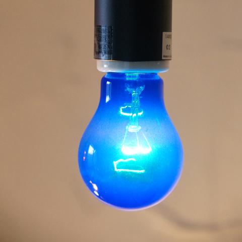 E26 40W 透明カラーランプ ブルー ※電球のみ